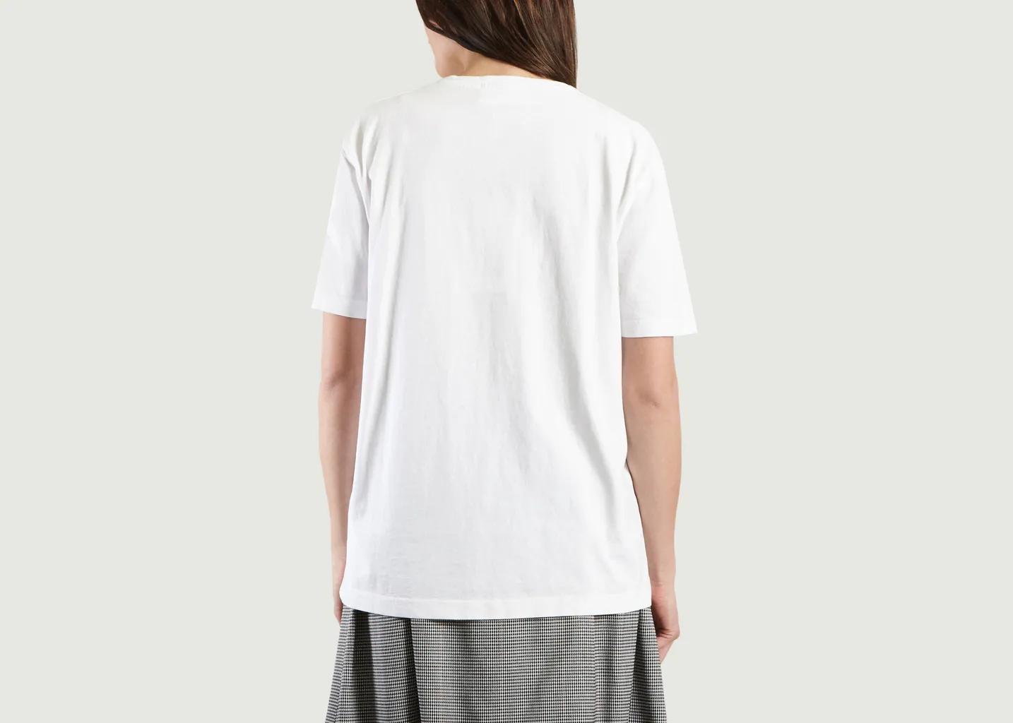 Camiseta Exia Street de manga corta de algodón blanco American Vintage de Denim de color Blanco