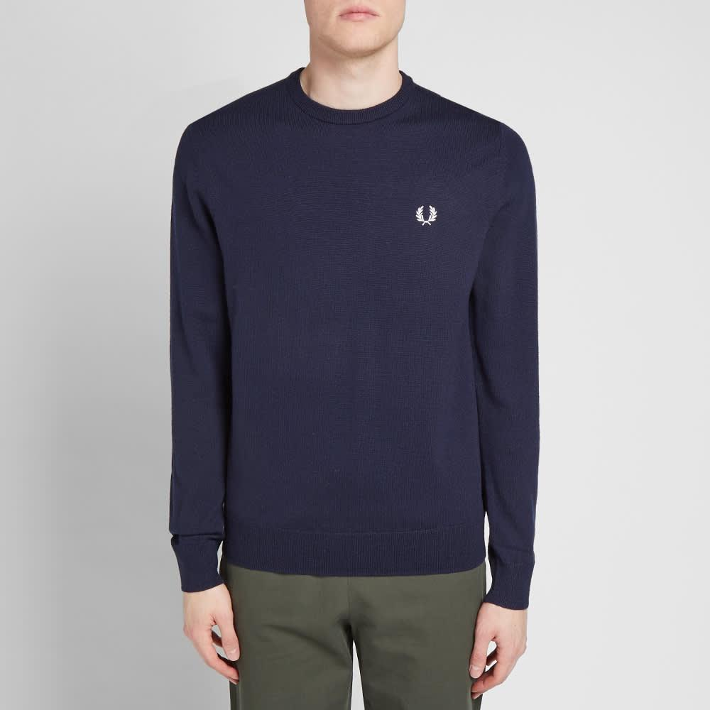 Autentico classico a maglia in carbonio scuro da uomo di colore blu
