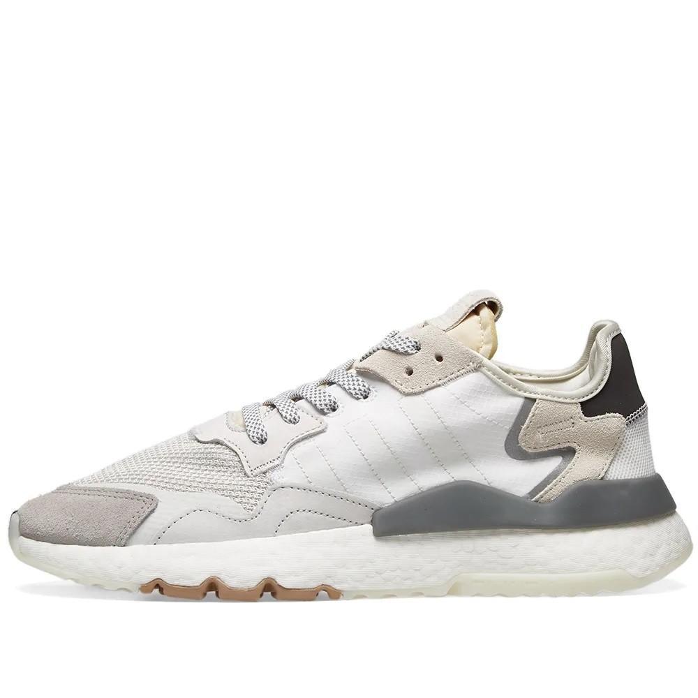 Zapatos deportivos Jogger Nite de ante blanco cristal y blanco Ftwr adidas de Tejido sintético de color Blanco para hombre
