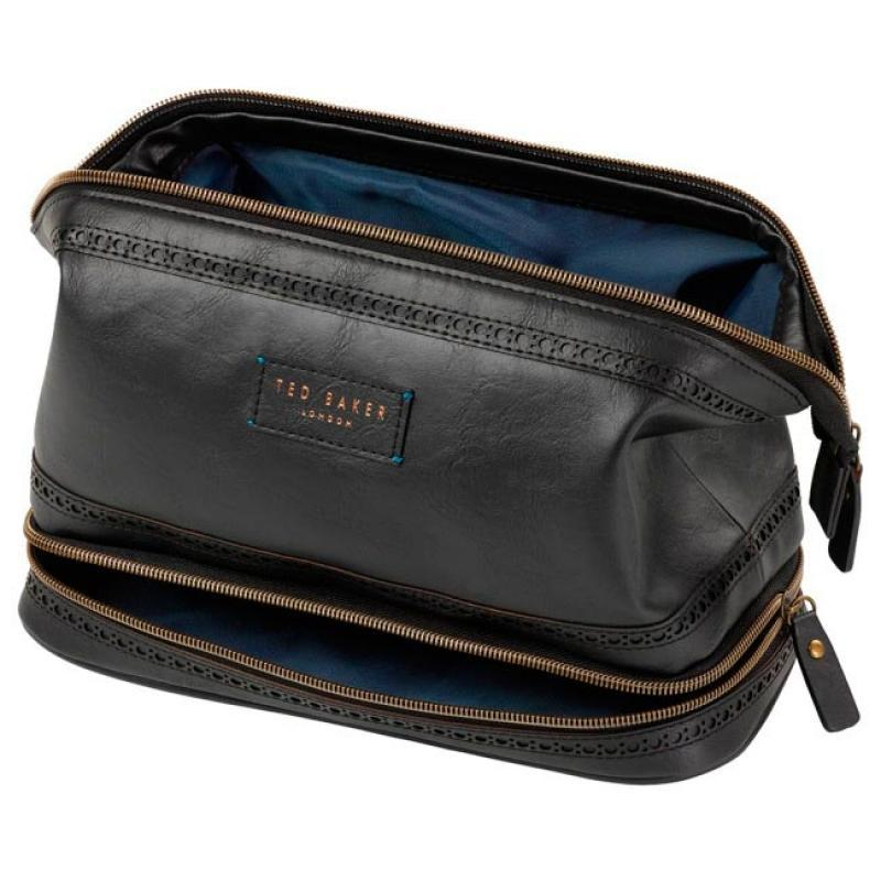 Ted Baker Large Cables And Clobber Bag In Black Gold