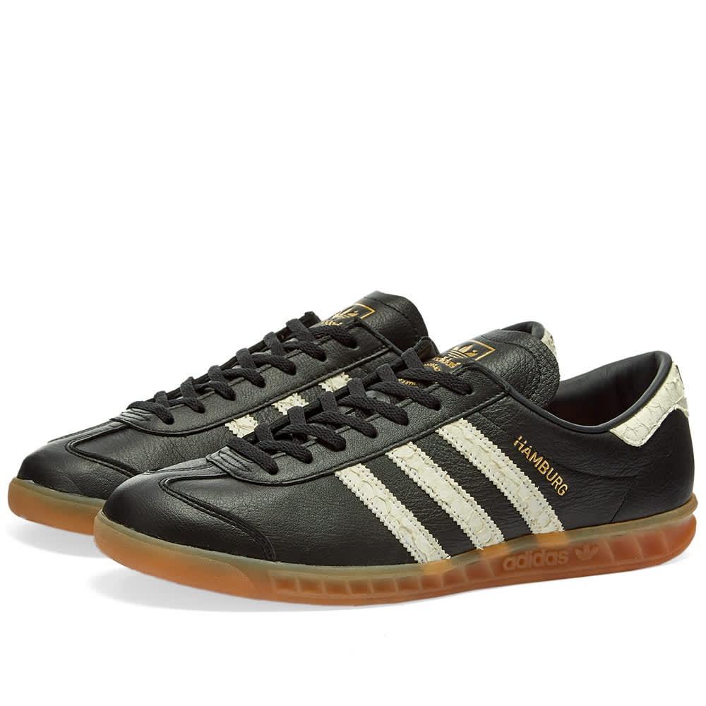 Hamburg Core Noir, Blanc & Rouge Lush Chaussures Cuir adidas ...