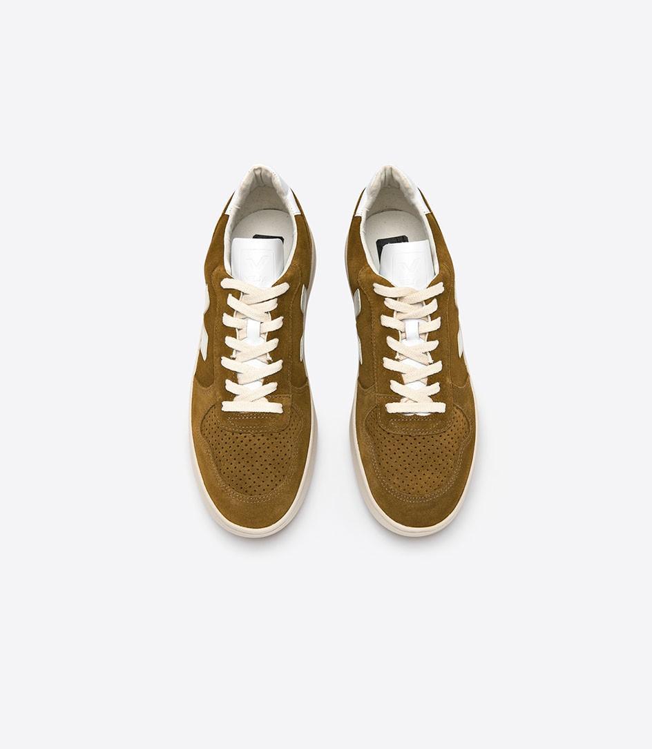 Veja V-10 Suede Camel White Shoes for