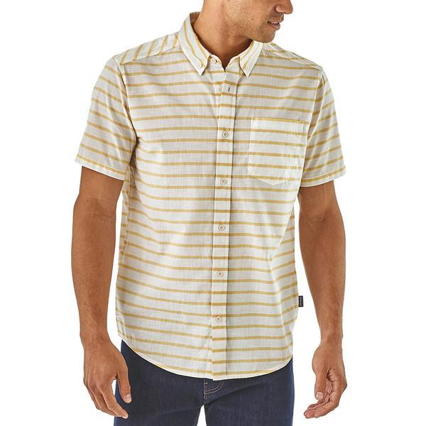 Patagonia Lightweight Bluffside Shirt Terrain Stripe Celadon SALE