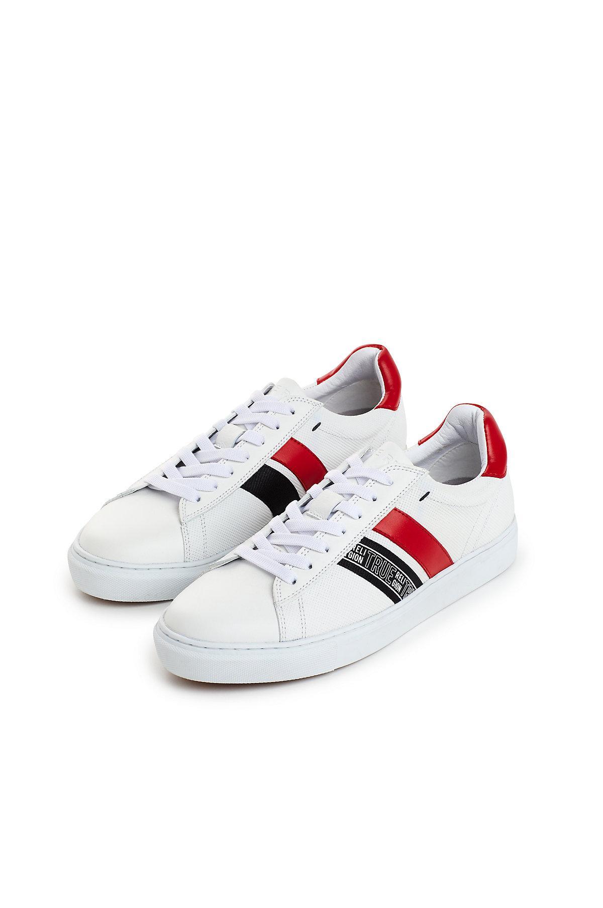 True Religion Leather Amaro Sneaker in