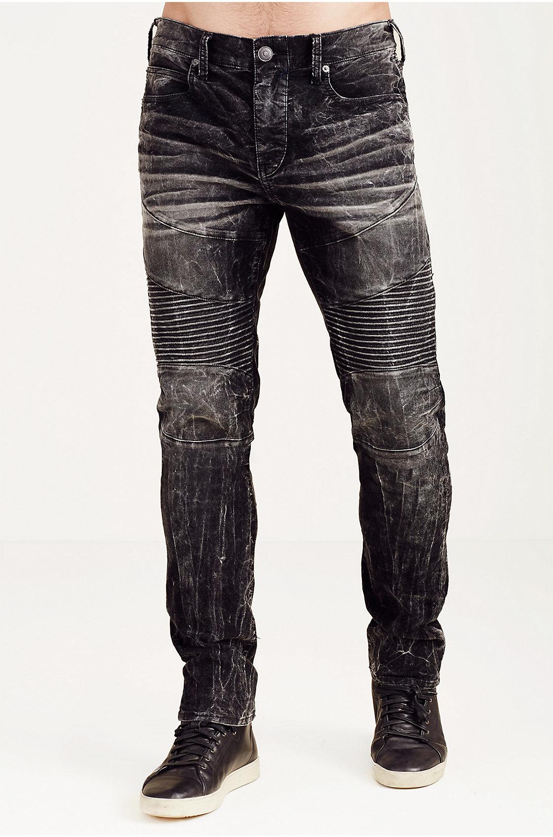 True religion Rocco Skinny Acid Wash Corduroy Moto Mens ...