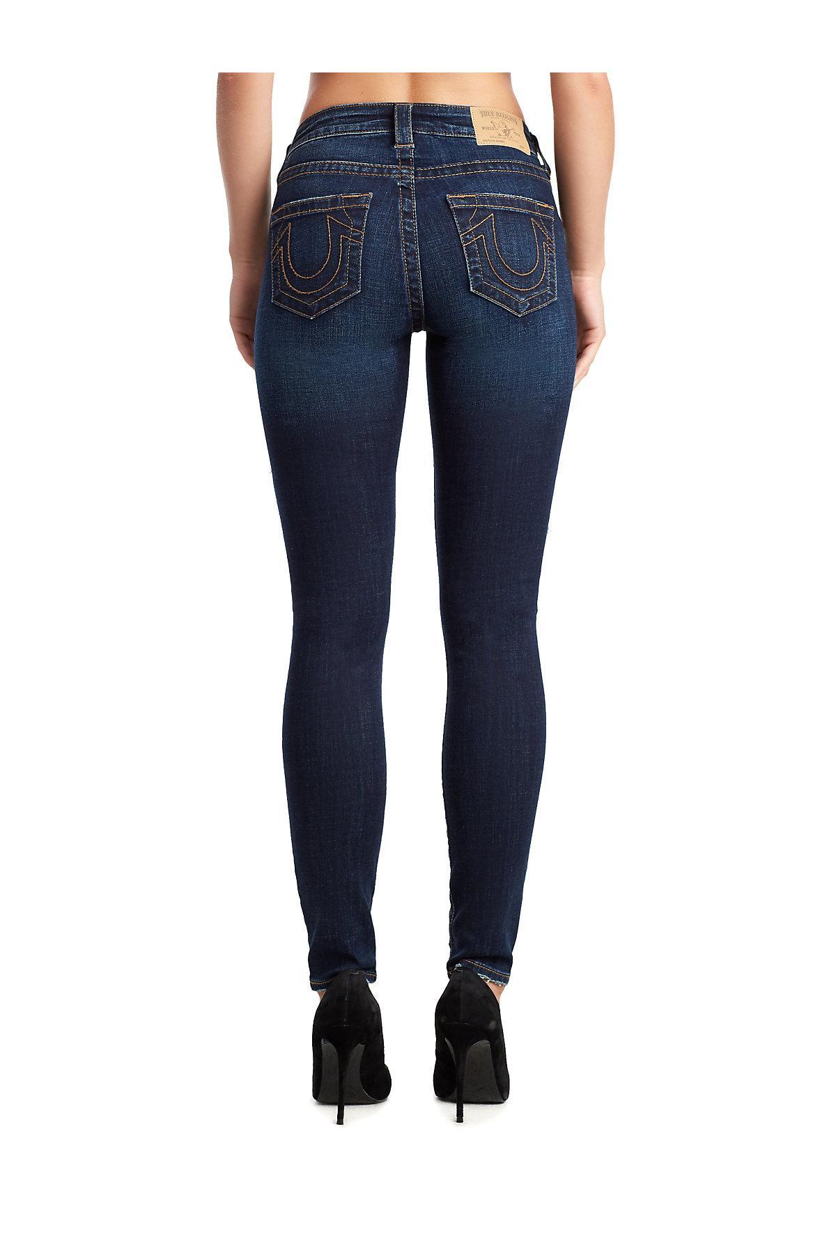 237be4d0a5 Lyst - True Religion Jennie Curvy Skinny Jean in Blue