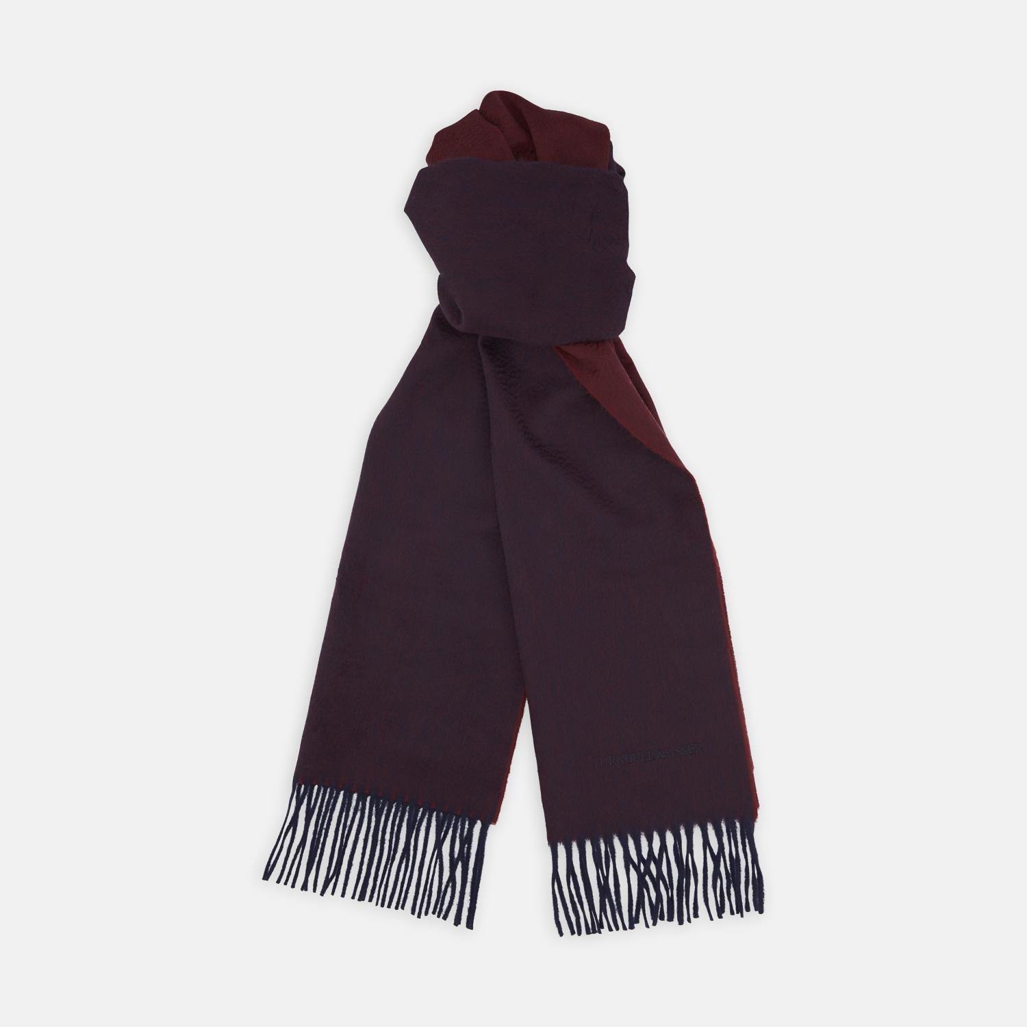 91bdd8028ee61 Turnbull & Asser Reversible Navy And Red Pure Cashmere Scarf in Blue ...