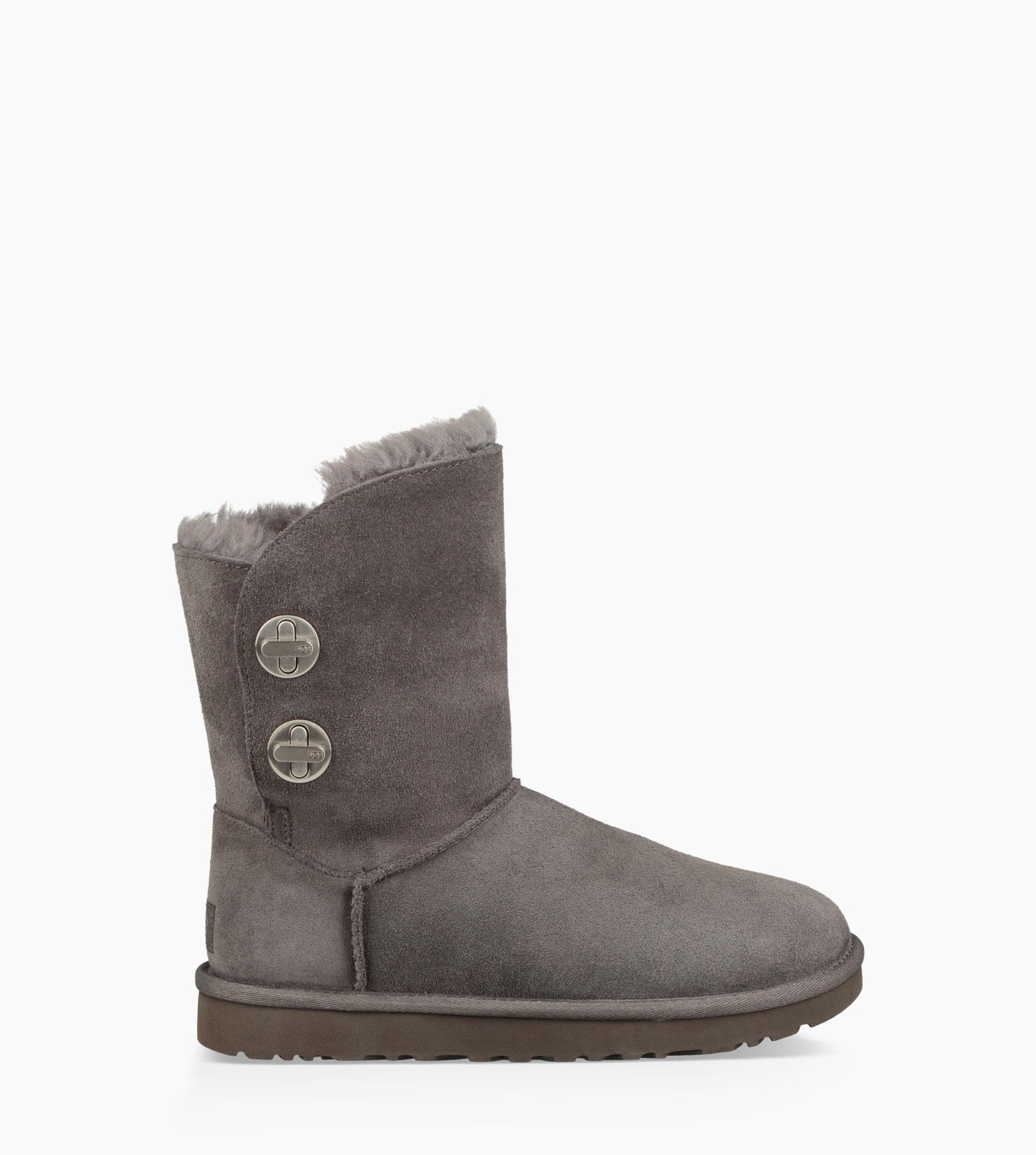 46781dcf3f4 Ugg Gray Classic Short Turnlock Boot Classic Short Turnlock Boot