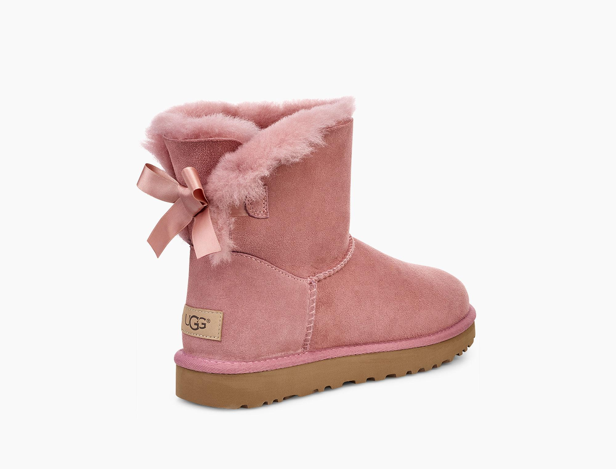 aab81520601 UGG Women's Mini Bailey Bow Ii Boot in Pink - Lyst