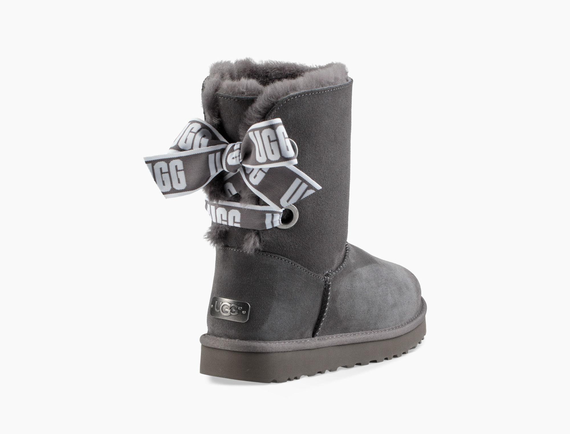 4c8ab764d38 Women's Gray Customizable Bailey Bow Short Boot Customizable Bailey Bow  Short Boot Short Bailey Bow Satin Ribbon