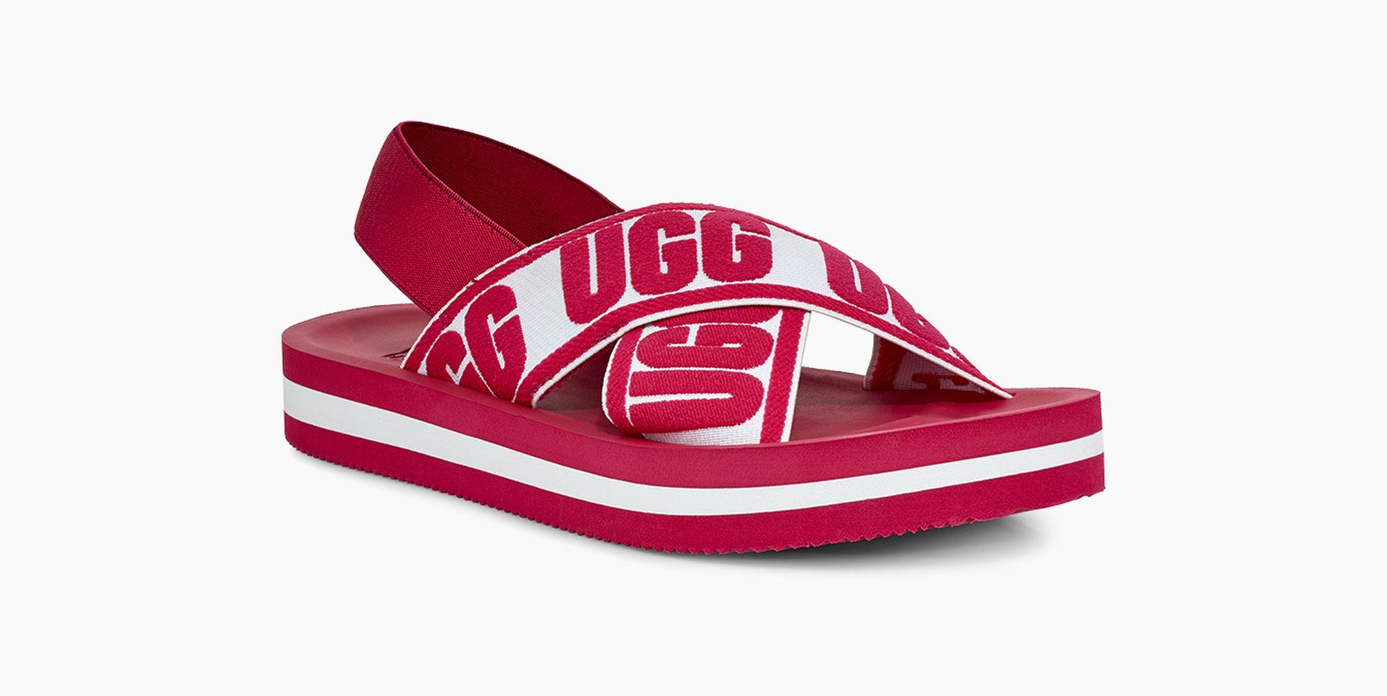 ede854ce3e6c Ugg - Red Women s Marmont Graphic Sandal - Lyst. View fullscreen