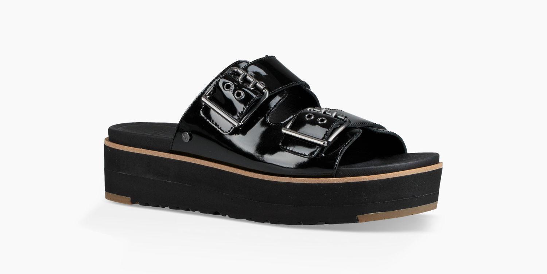 679558de2a1 Ugg Women s Cammie Sandal in Black - Lyst