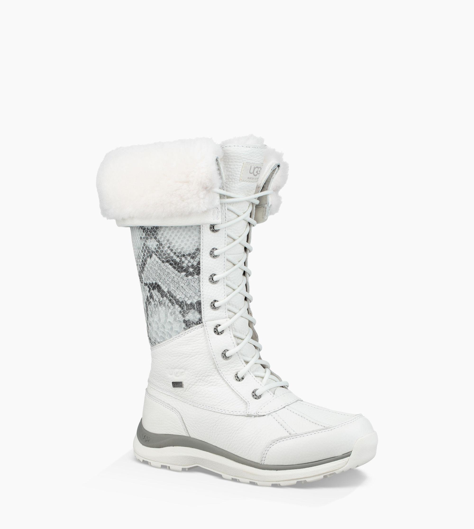 345a511b18e Ugg White Women's Adirondack Tall Iii Snake