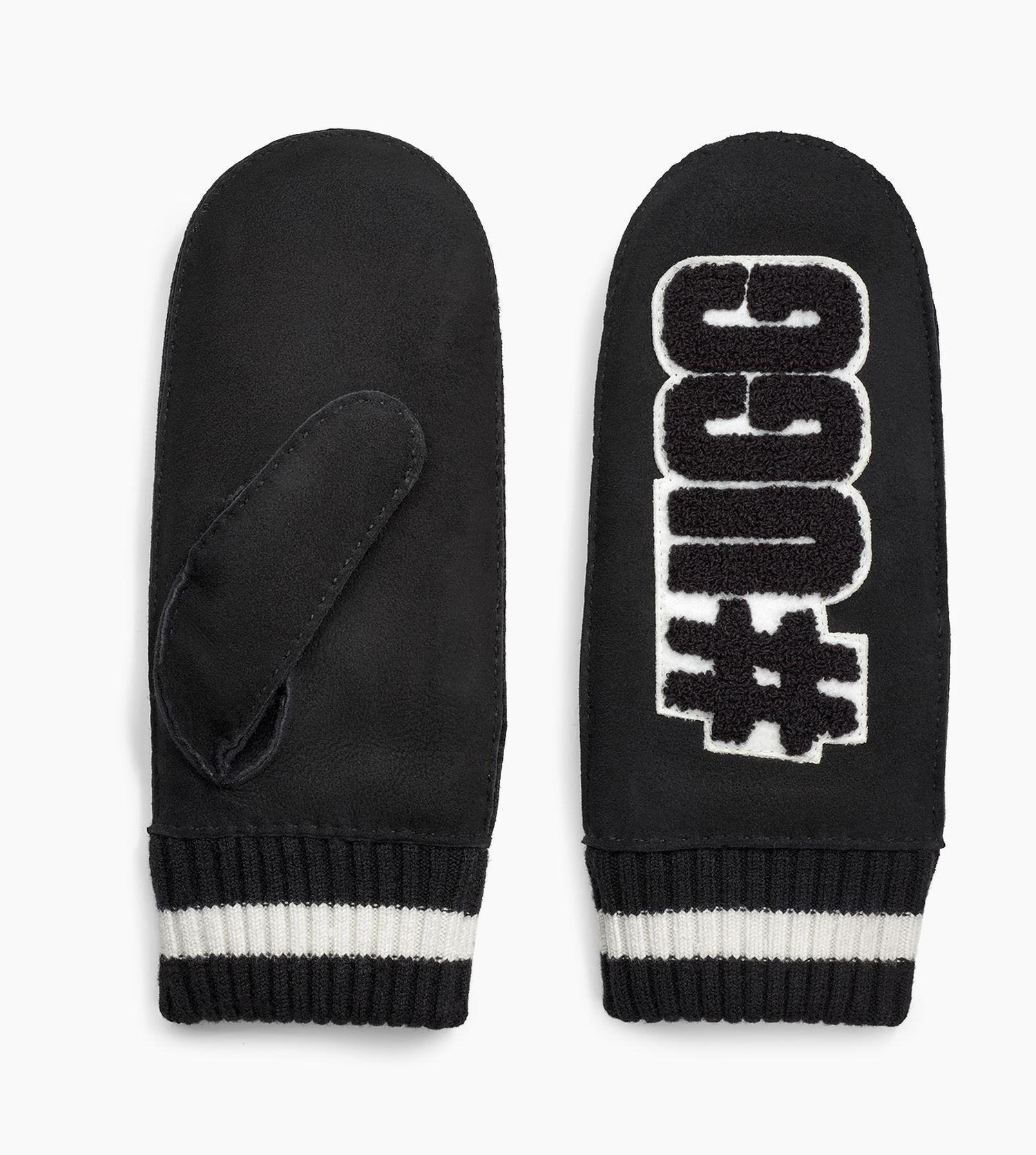 2cfddf449ae UGG Women's #life Patch Logo Mittens in Black - Lyst