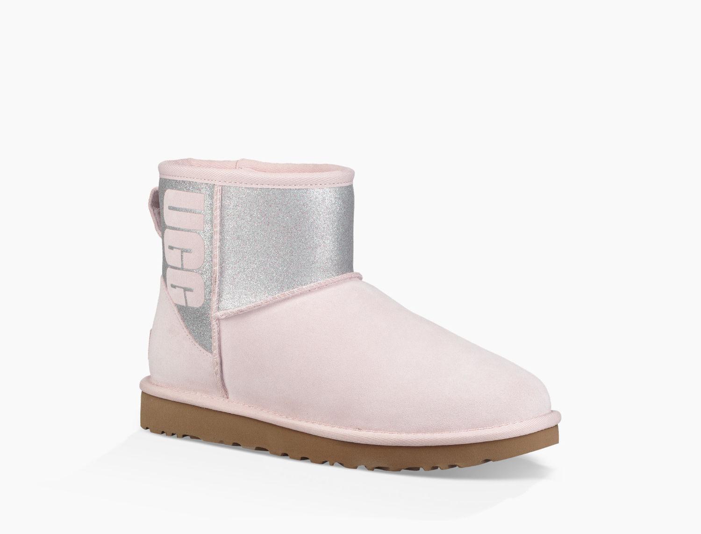 Ugg - Pink Women's Classic Mini Sparkle Boot - Lyst. View fullscreen