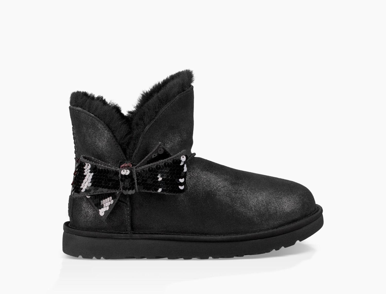 55e75b984af Ugg Black Mini Sequin Bow Boot Mini Sequin Bow Boot