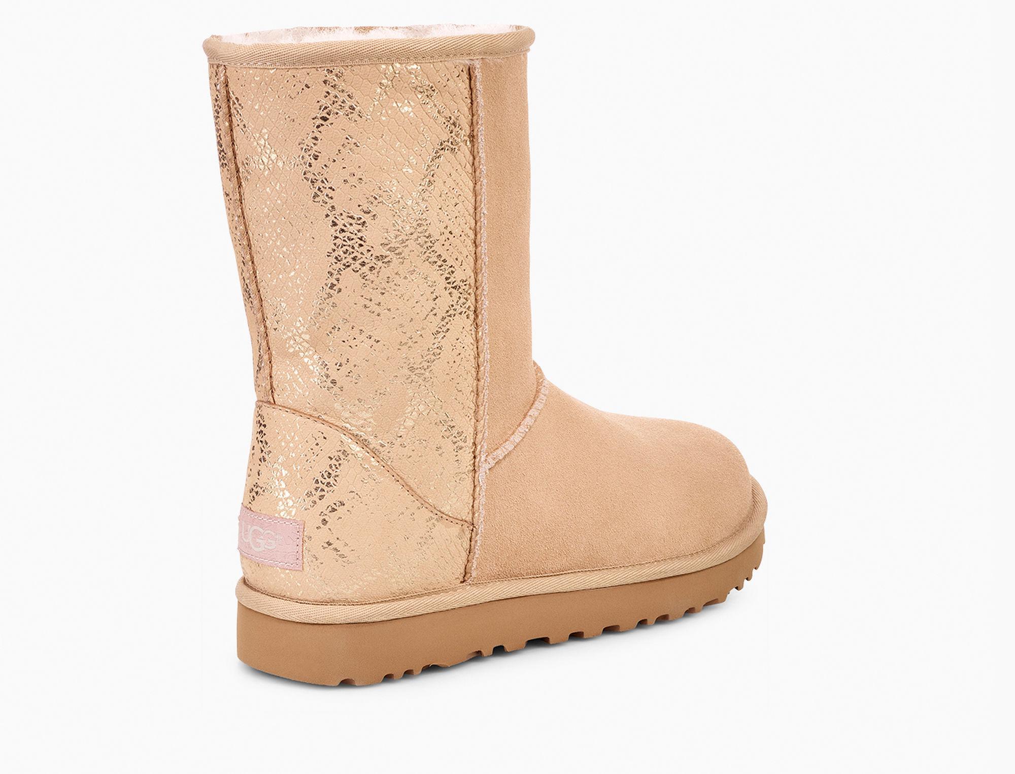 87843f1f890 Women's Classic Short Metallic Snake Boot Classic Short Metallic Snake Boot