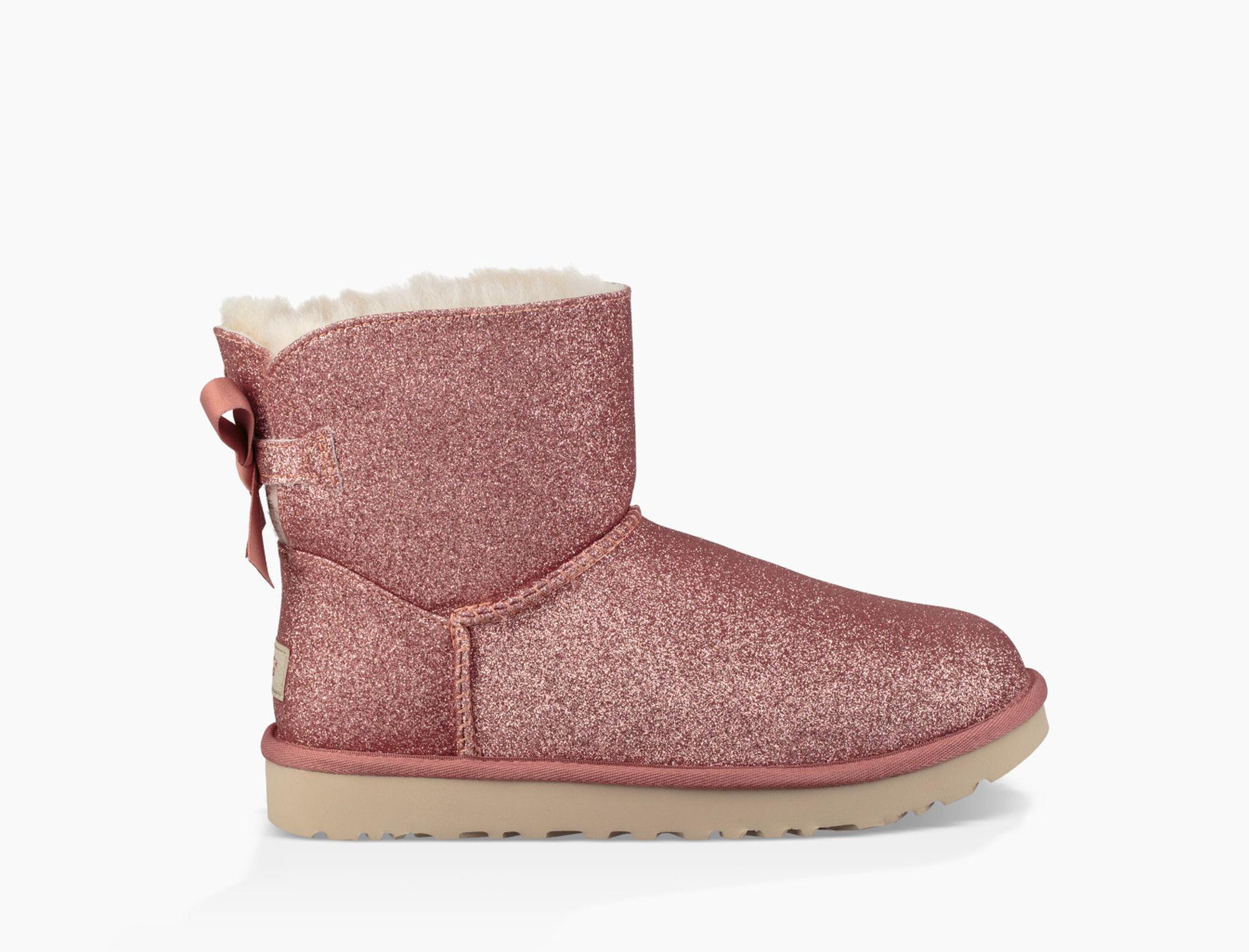 UGG Satin Mini Bailey Bow Sparkle Boot