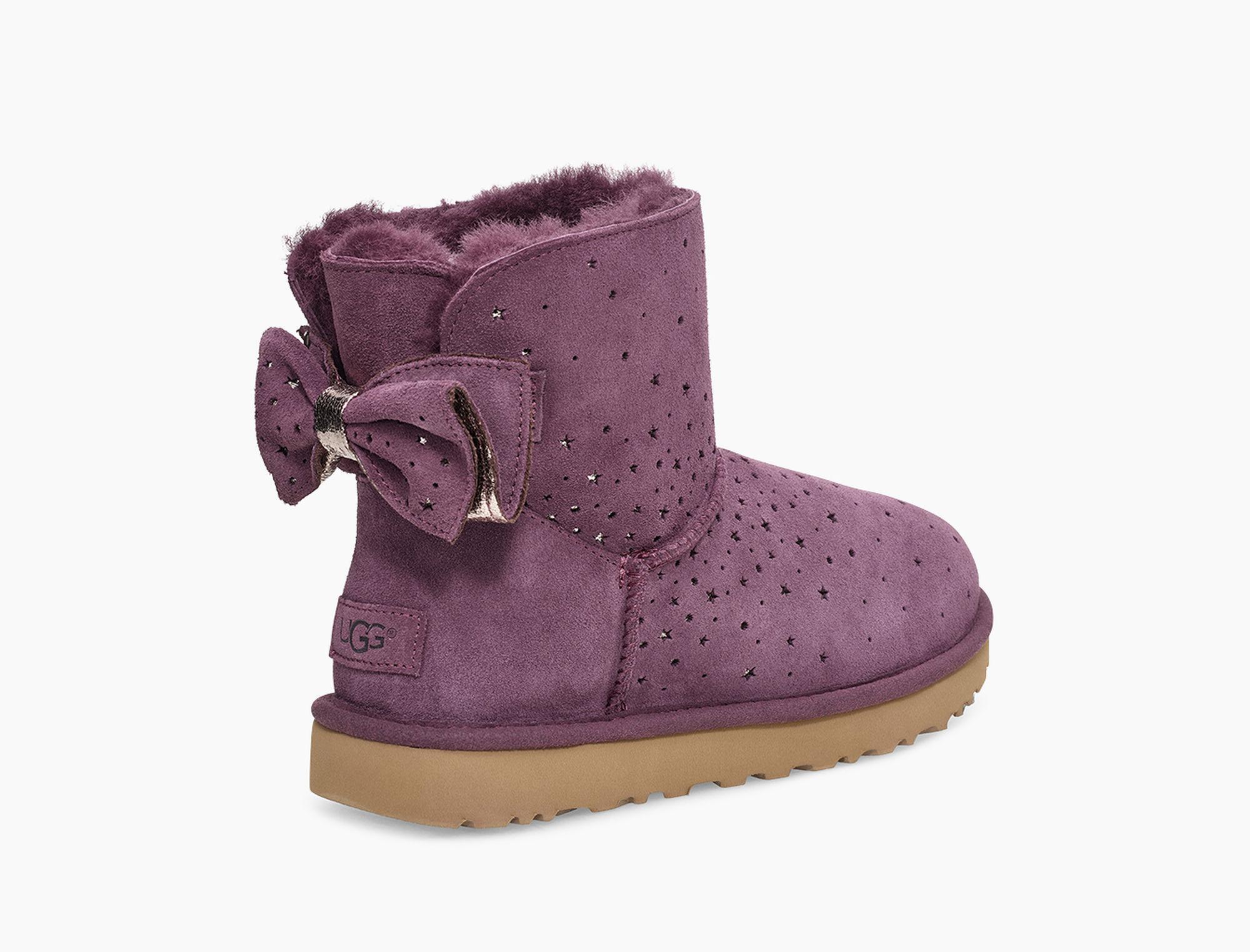 11e637877b4 Women's Purple Classic Mini Stargirl Bow Boot Classic Mini Stargirl Bow Boot