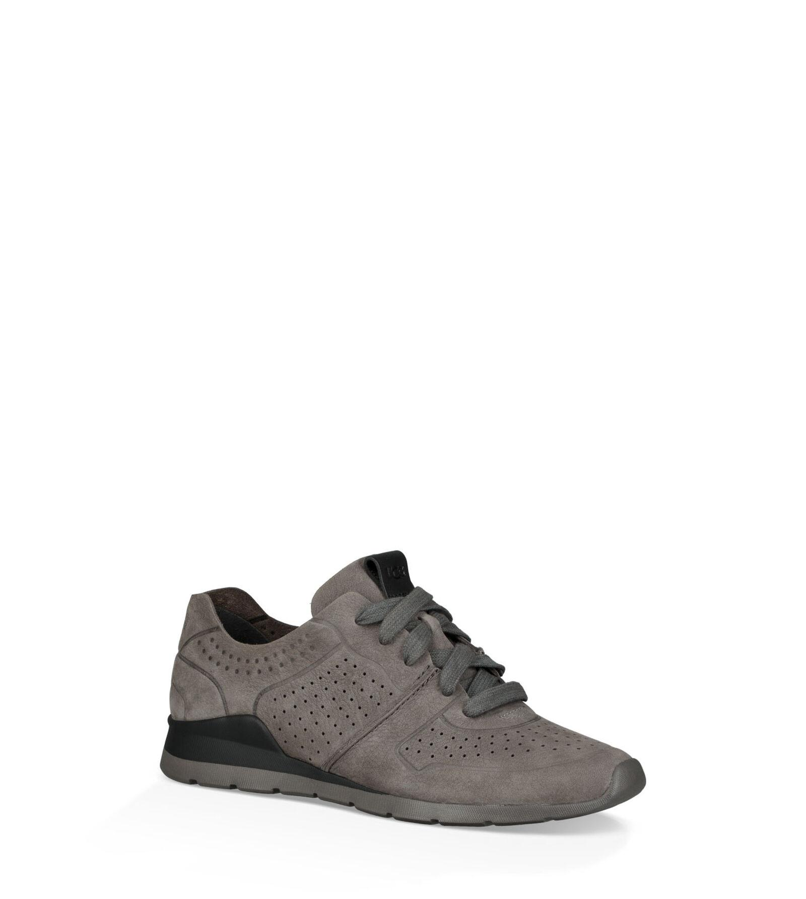 UGG Leather Tye Trainer in Charcoal (Grey)