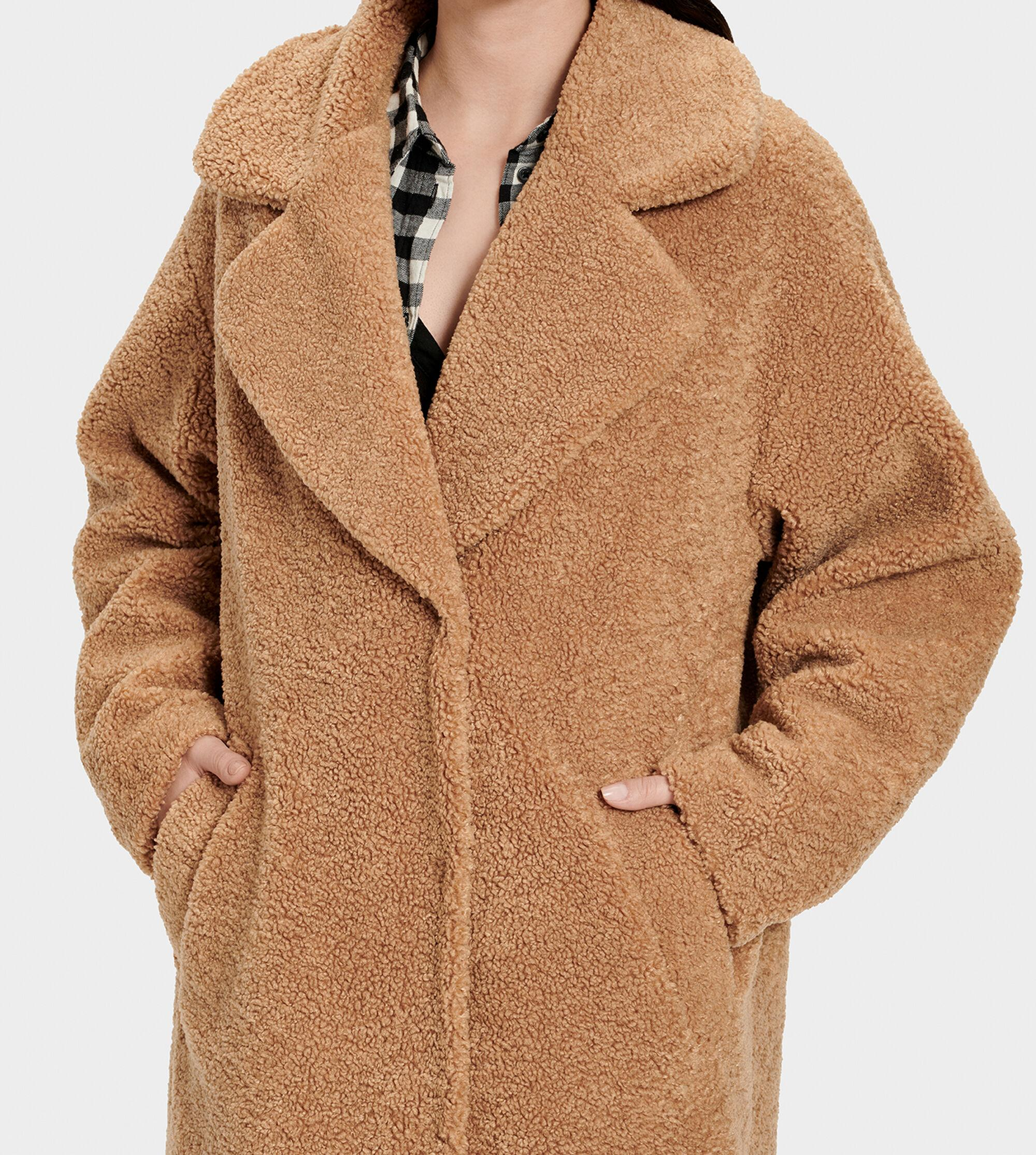 utterly stylish wide varieties undefeated x UGG Charlisse Teddy Bear Coat Charlisse Teddy Bear Coat in Camel ...