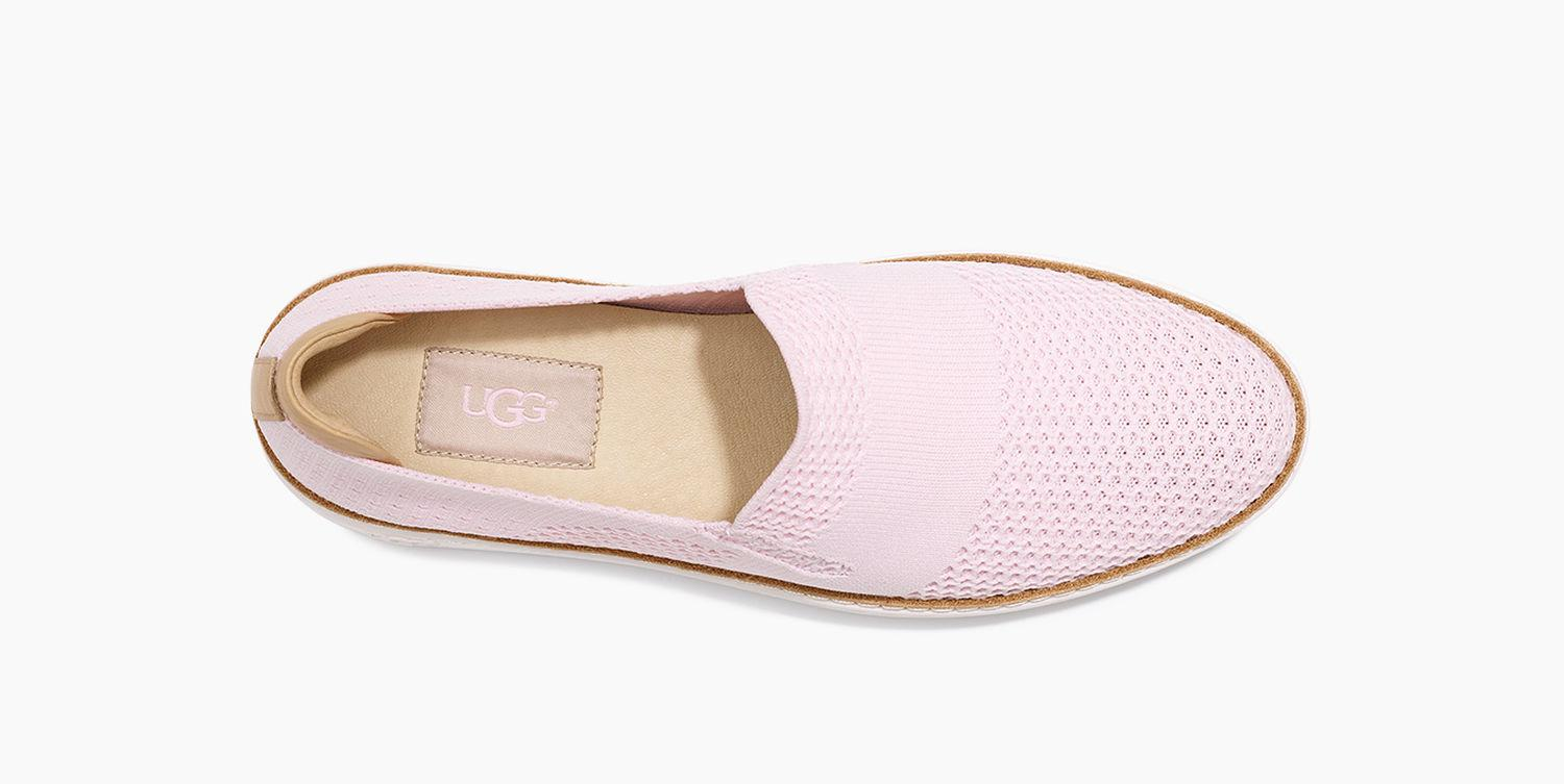 UGG Leather Sammy Sneaker in Seashell Pink (Pink)