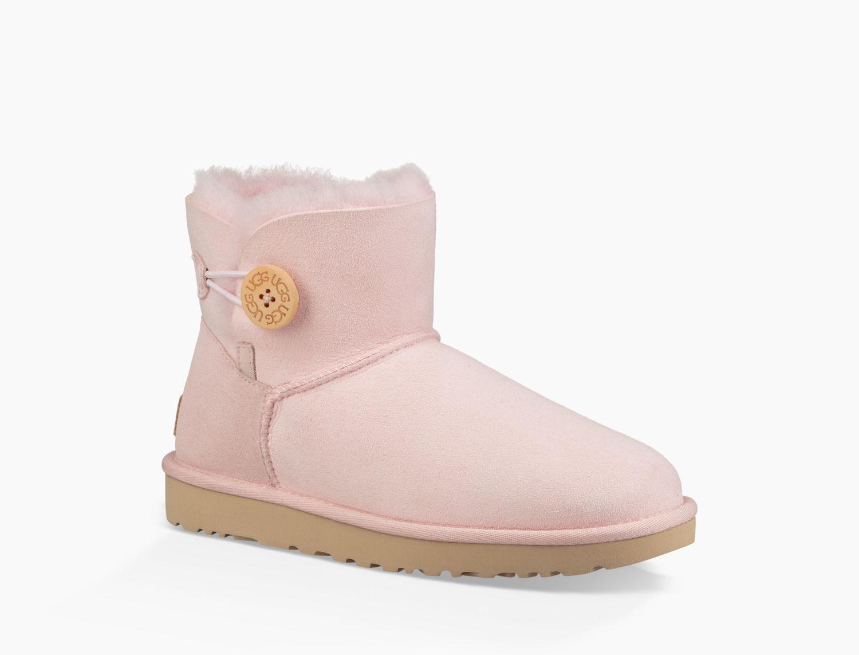 UGG Suede Mini Bailey Button Ii Boot Mini Bailey Button Ii Boot in Seashell Pink (Pink)