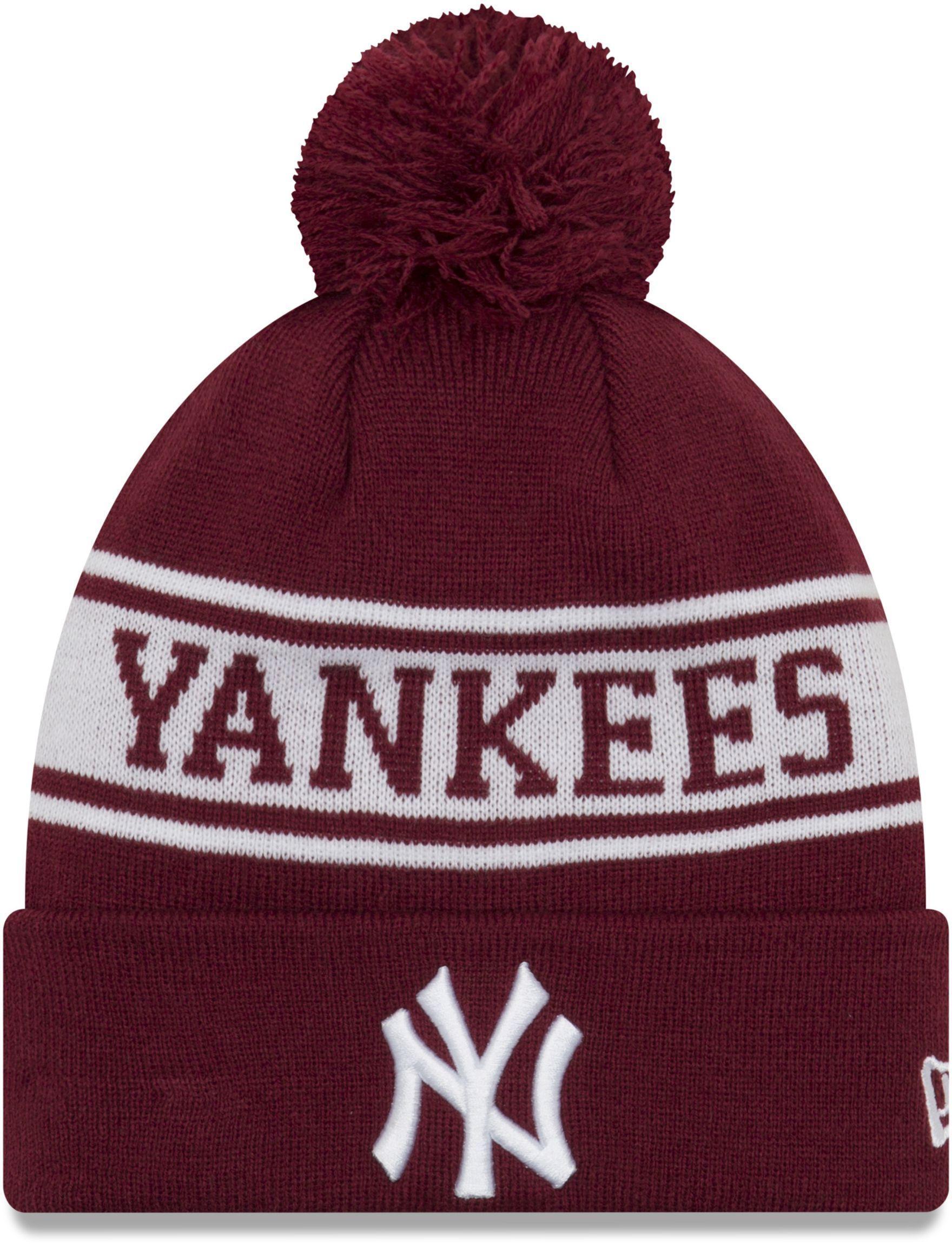 KTZ New York Yankees Seasonal Jake Bobble Beanie Hat in Red for Men ... 3ffa74493ed7