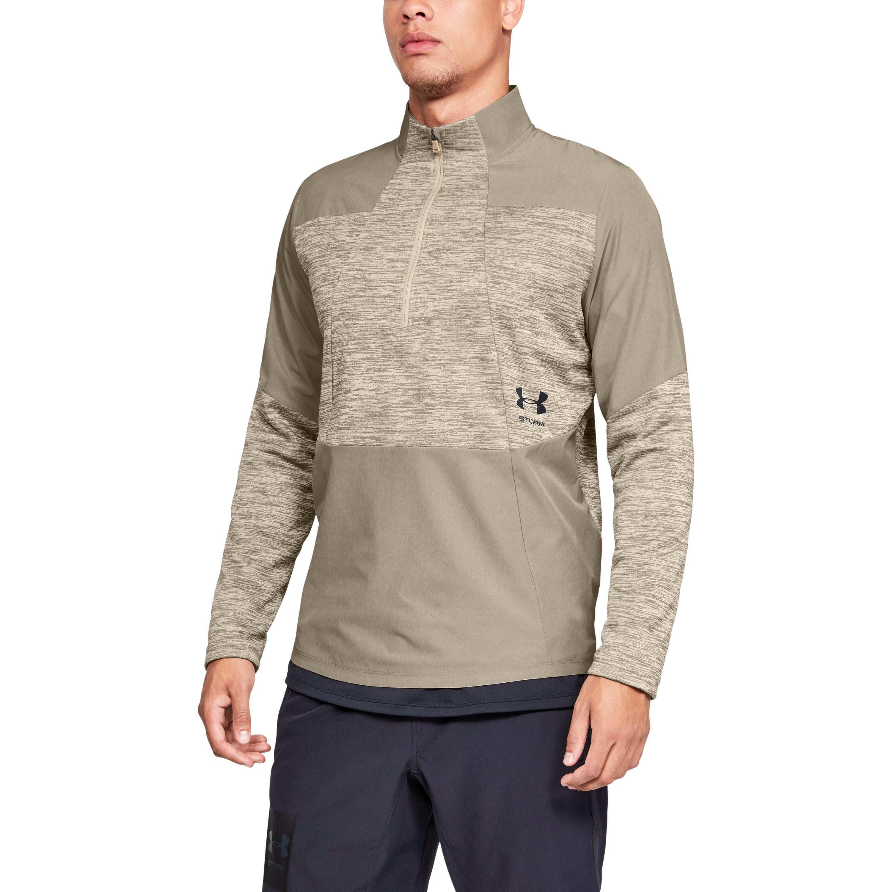 054ed596c379e5 Under Armour Men's Ua Storm Cyclone Coldgear® 1⁄2 Zip in Natural for ...