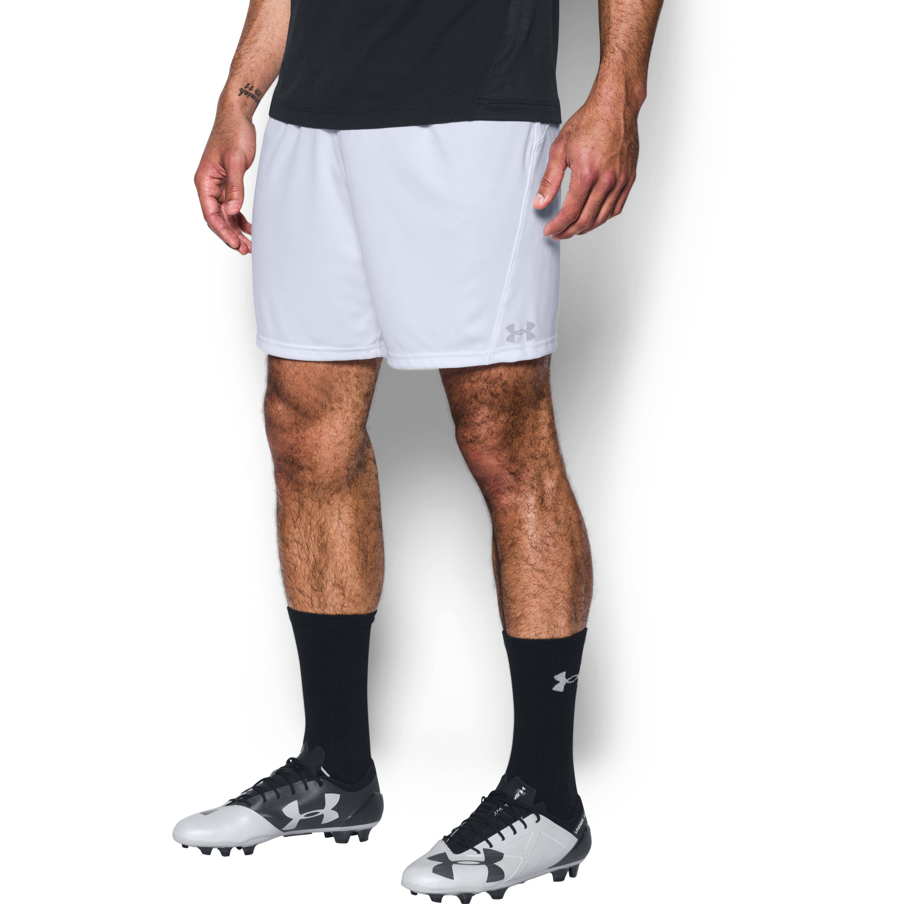 b3e54a8bb Under Armour Men's Ua Challenger Knit Shorts in White for Men - Lyst