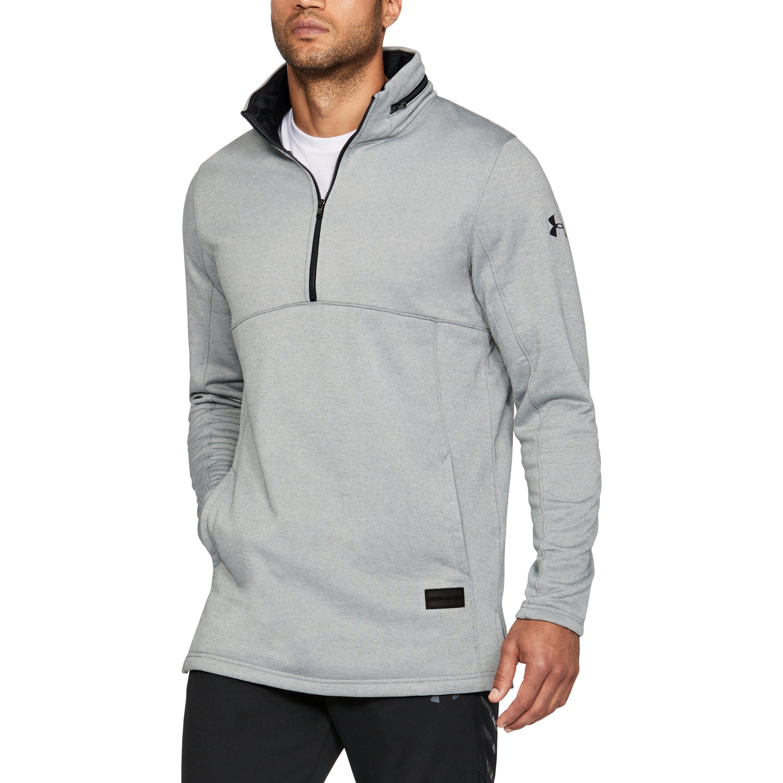 96d801c7 Under Armour Gray Men's Ua Pursuit Hooded Funnel Neck 1⁄4 Zip for men