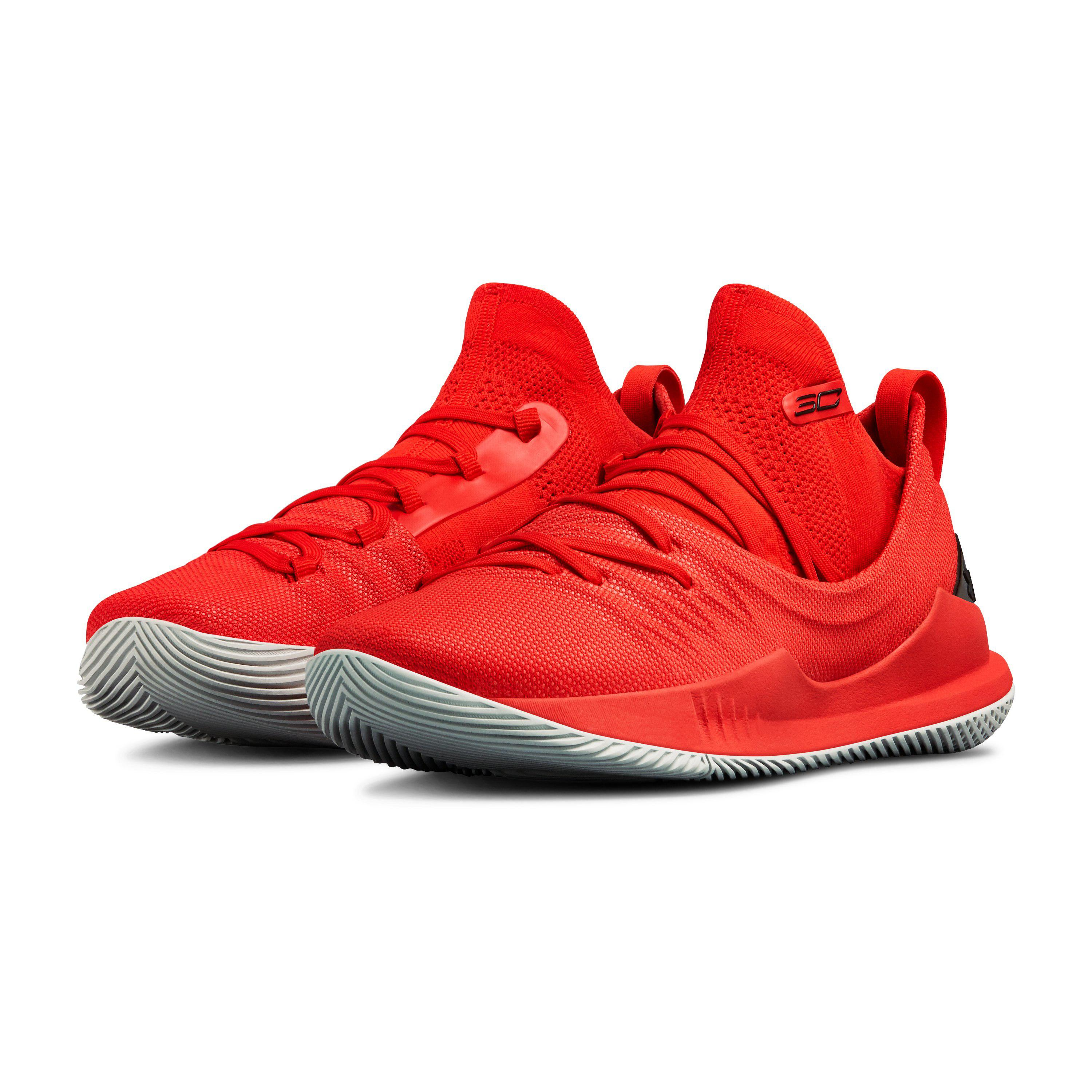 af0588a3 get under armour red mens ua curry 5 basketball shoes for men lyst. view  fullscreen