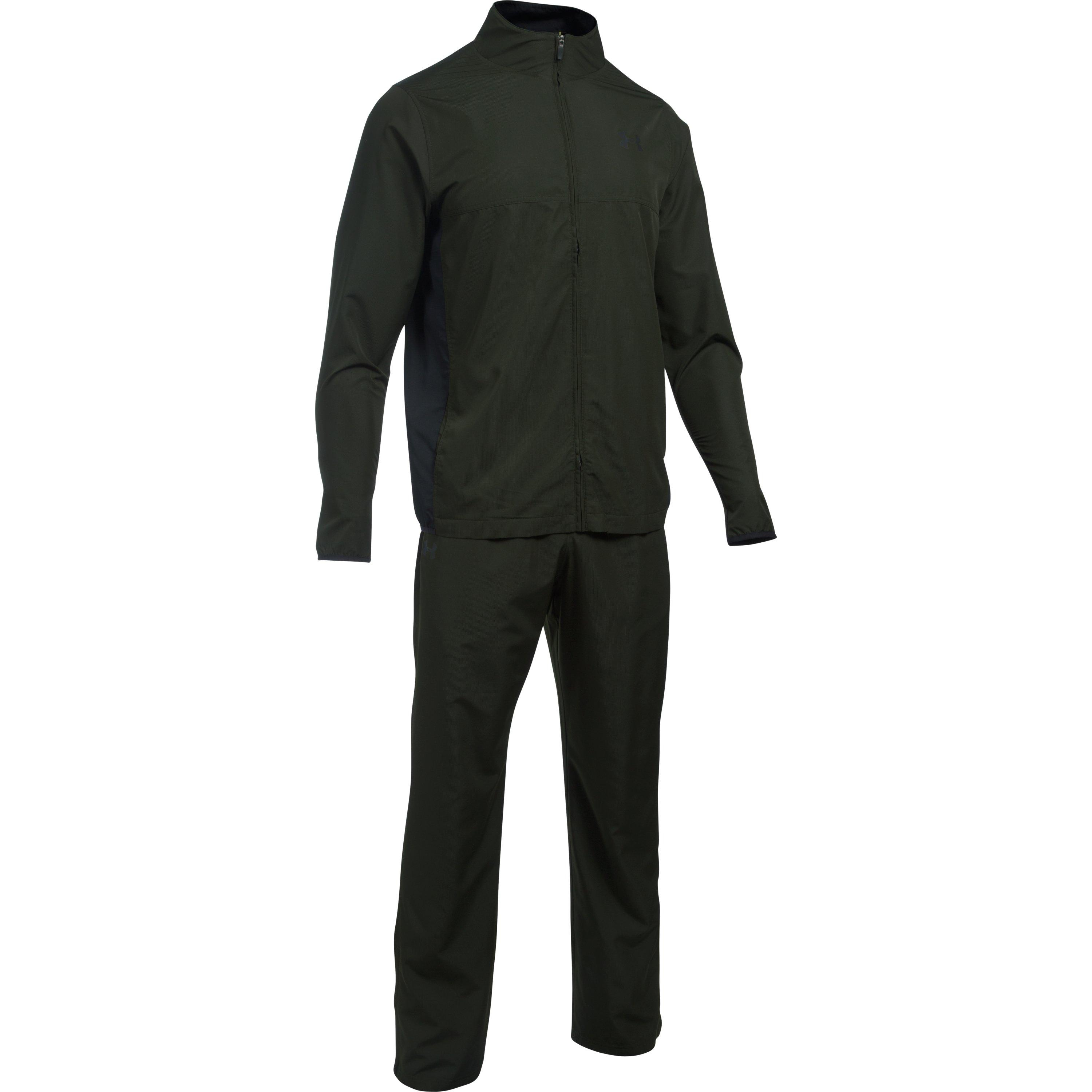 Under Armour Mens Vital Warm-Up Suit Artillery Green//Black Small Under Armour Apparel 1272435