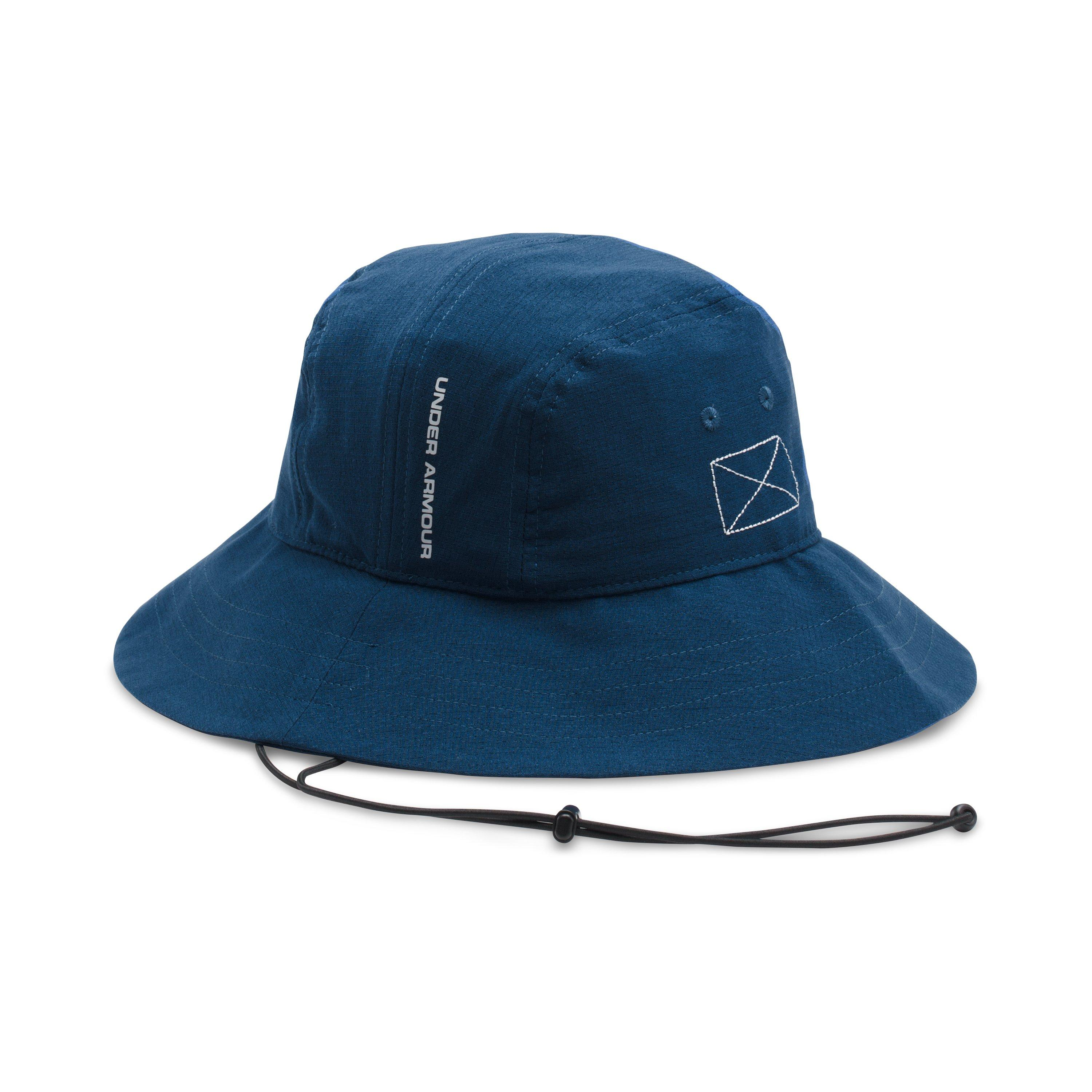 34e51fae3f6 ... buy lyst under armour mens ua armourventtm bucket hat in blue for men  3cac9 21924