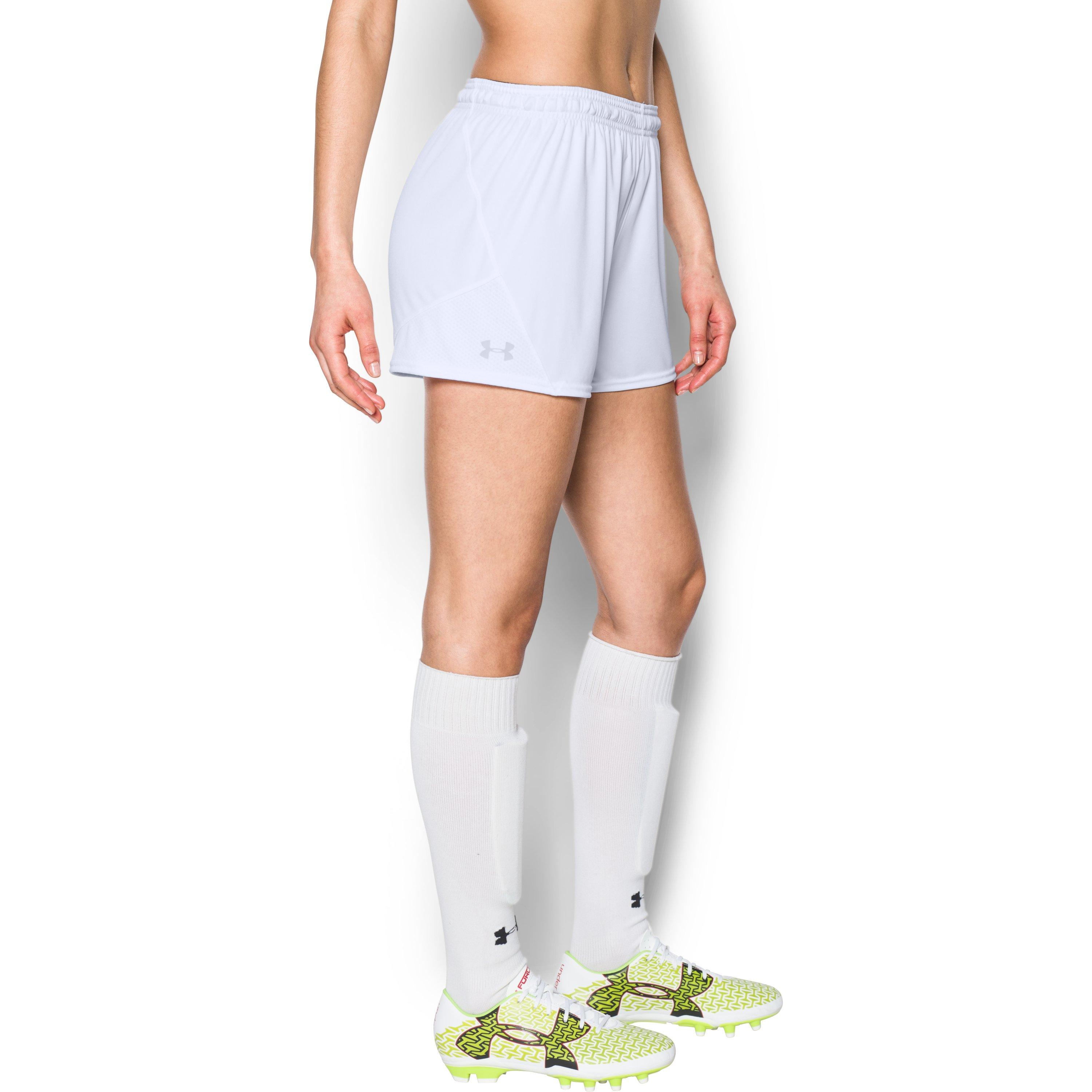 Under armour Women's Ua Challenger Ii Knit Shorts in White ...