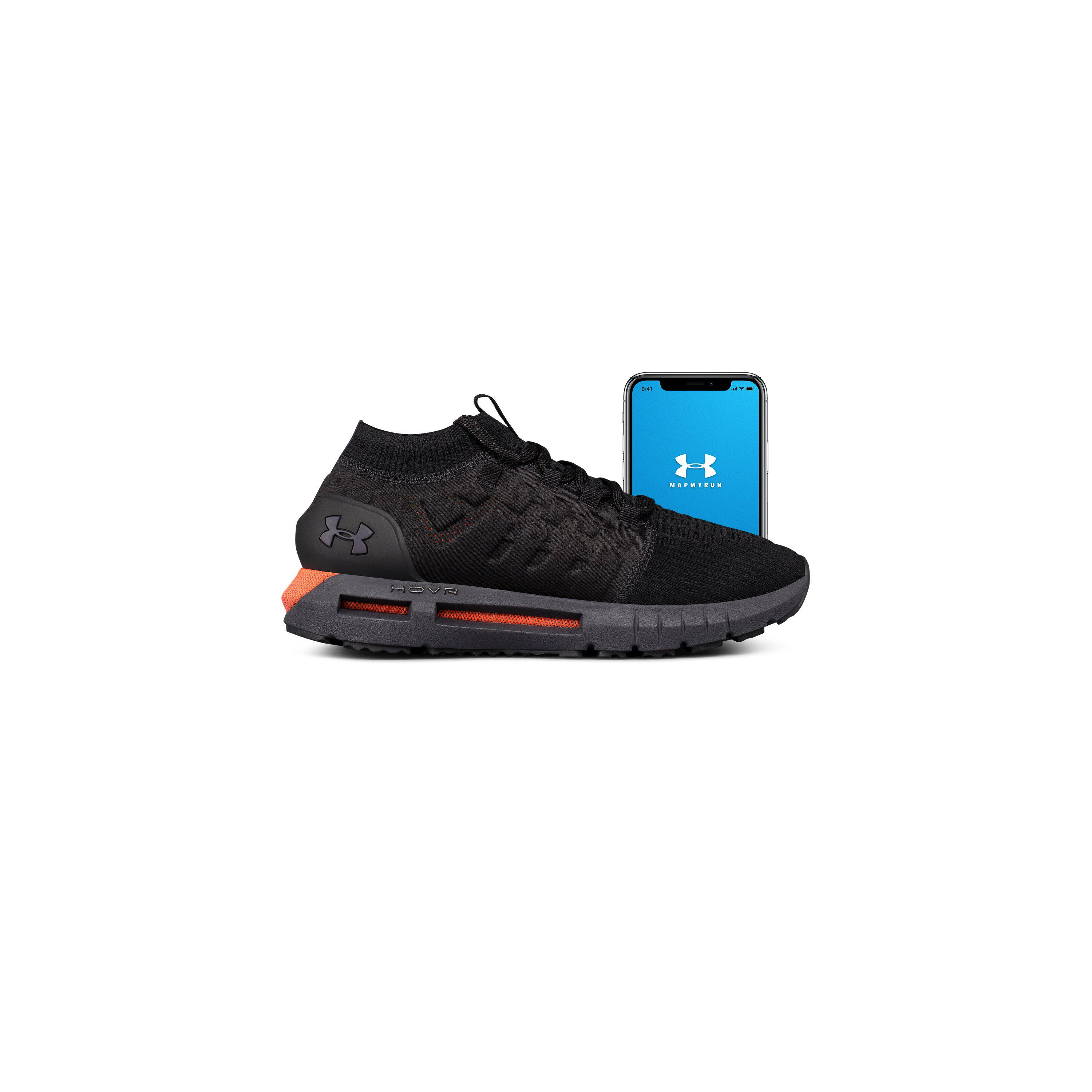 best website 1db37 b0eb0 Black Men's Ua Hovr Phantom Connected Running Shoes