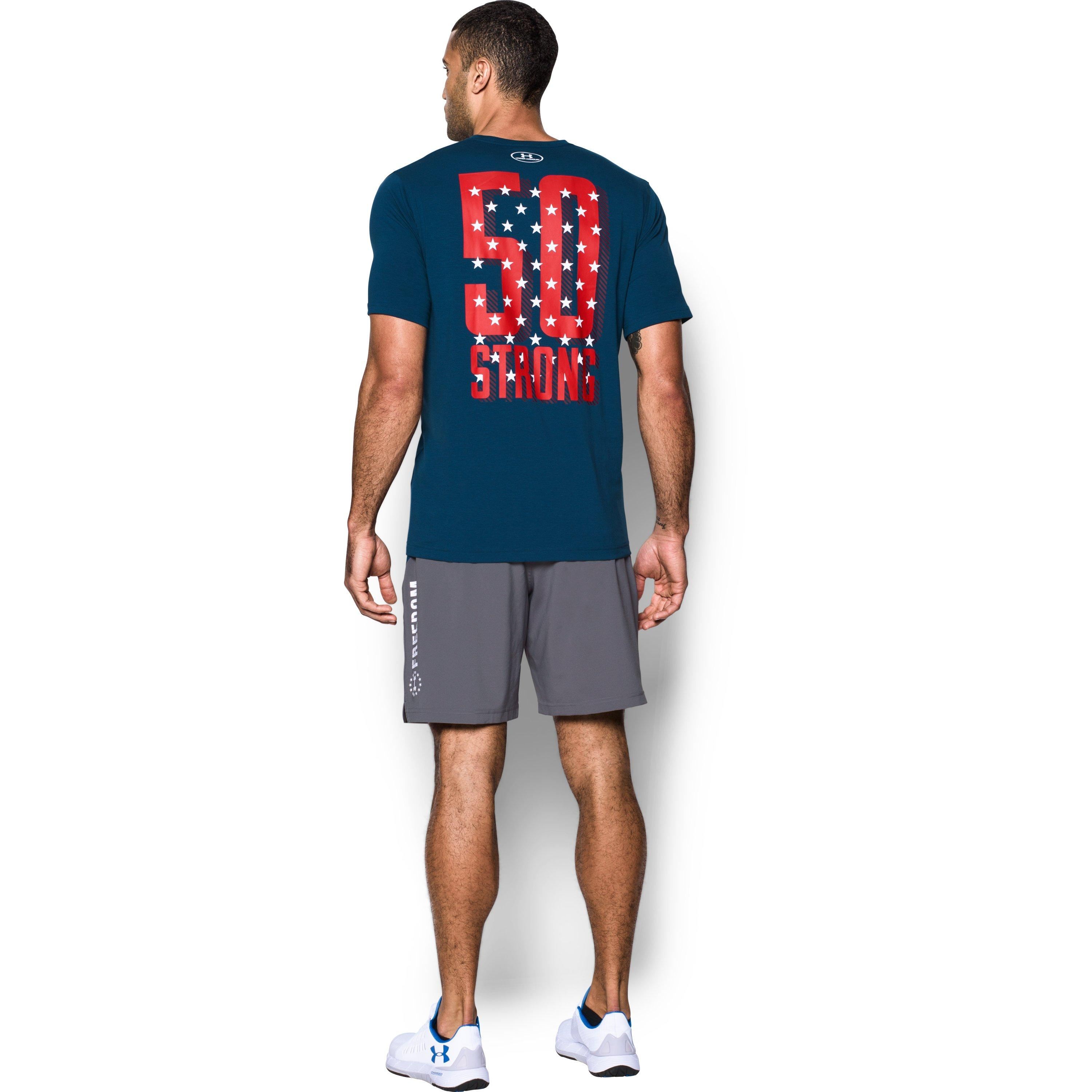 Under Armour Men S Ua Freedom 50 Strong T Shirt In Blue