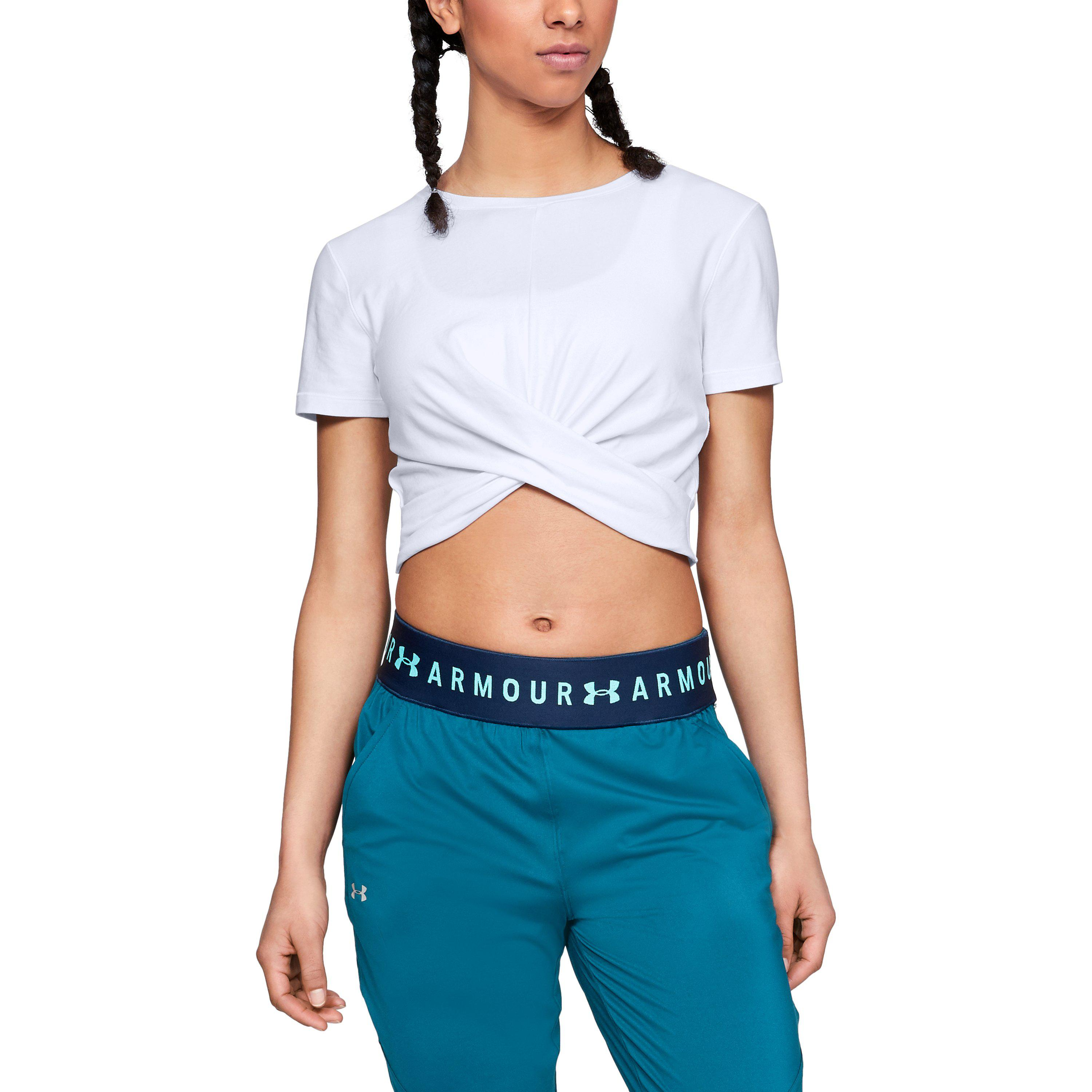 4ef52675cd Under Armour White Women's Ua Vanish Crop Tee