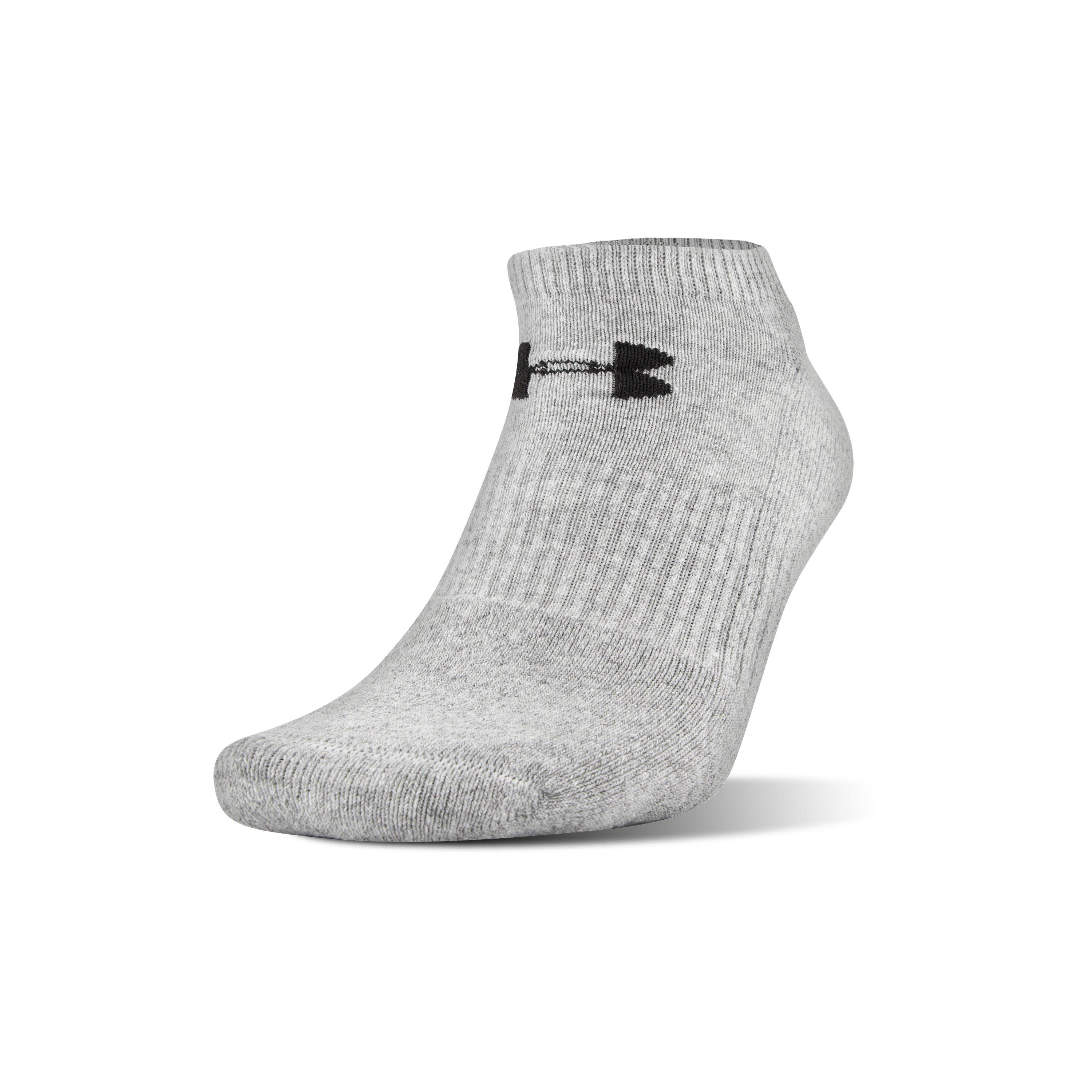 bf51dc5109 Under Armour Gray Ua Charged Cotton® 2.0 No Show Socks – 6-pack