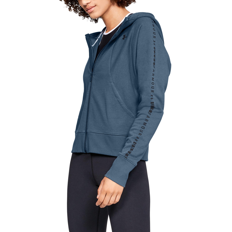 15b67b7e96 Under Armour Women's Ua Microthread Fleece Graphic Full Zip in Blue ...