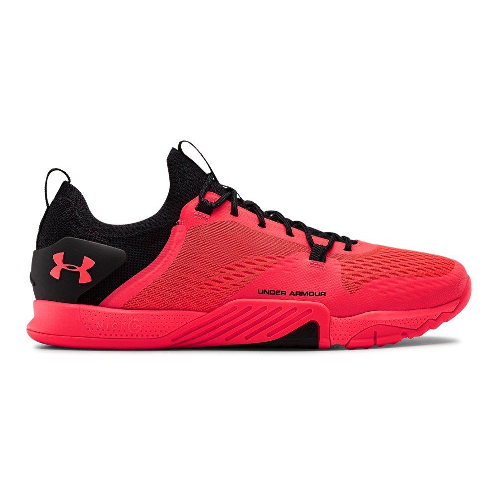 Under Armour Mens TriBase Reign 2 Training Gym Fitness Shoes Black Red Sports