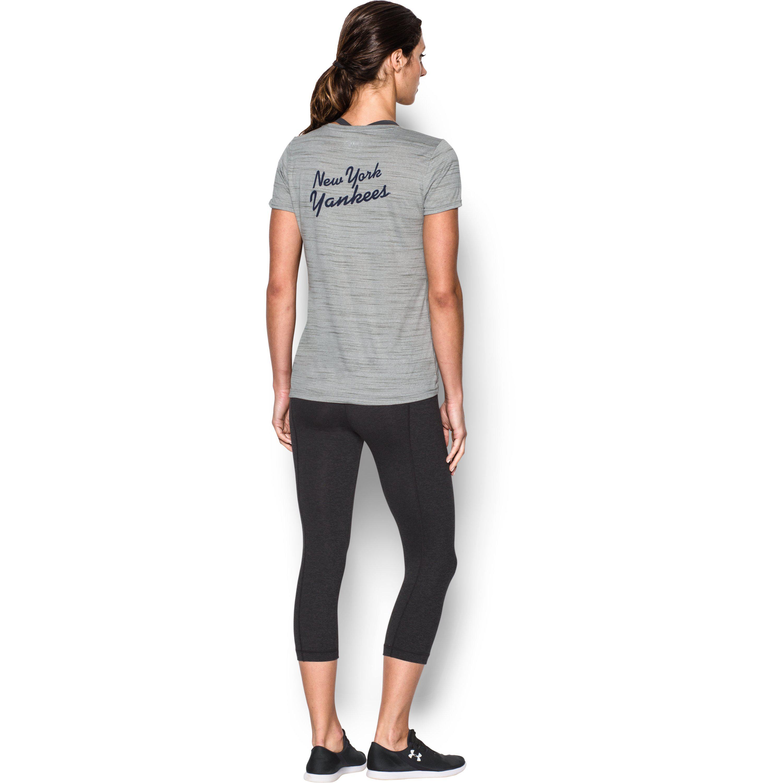 dd722f78 Lyst - Under Armour Women's New York Yankees Ua Techtm T-shirt in Gray