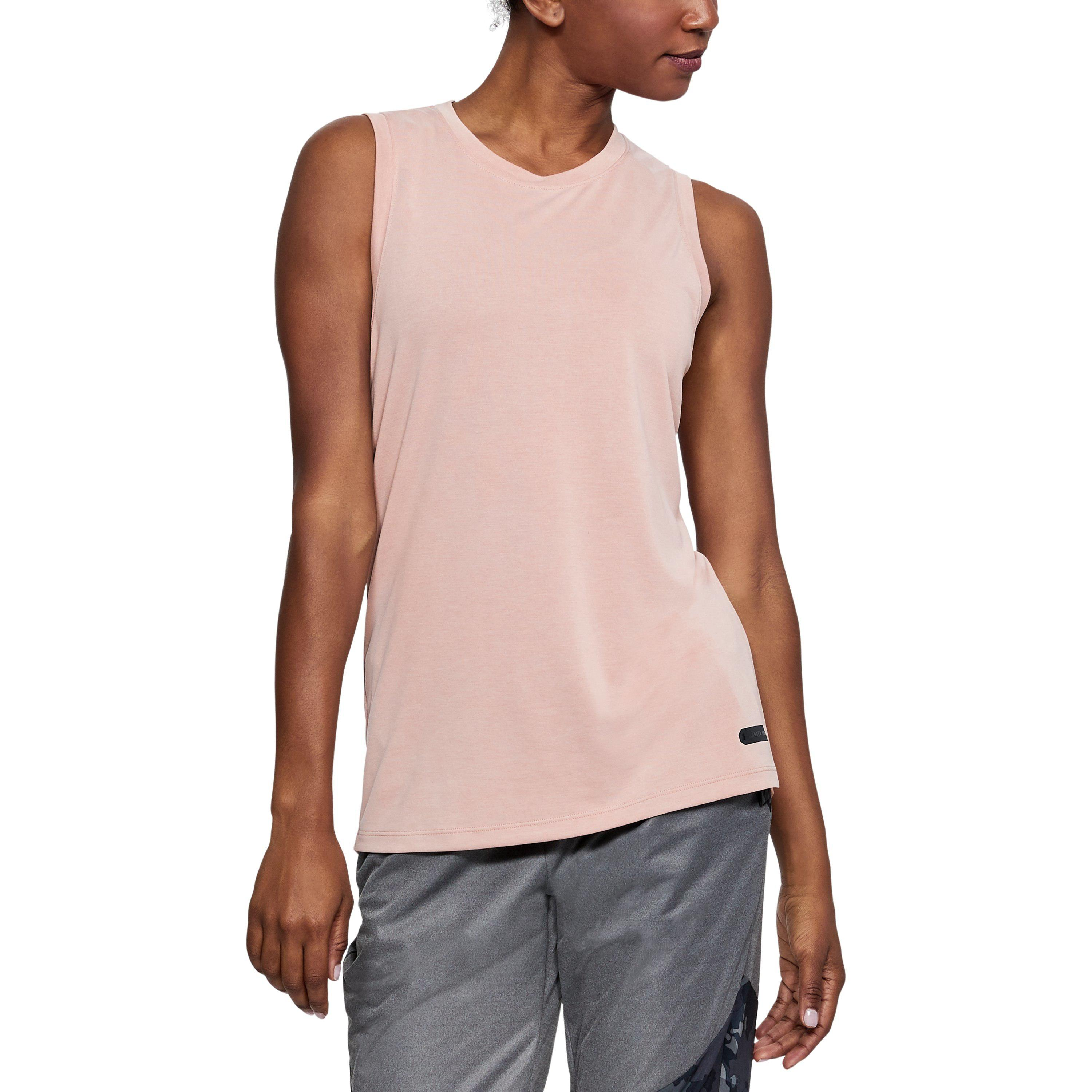 c6c88896d1 Under Armour Women's Ua Unstoppable Muscle Tank in Pink - Lyst