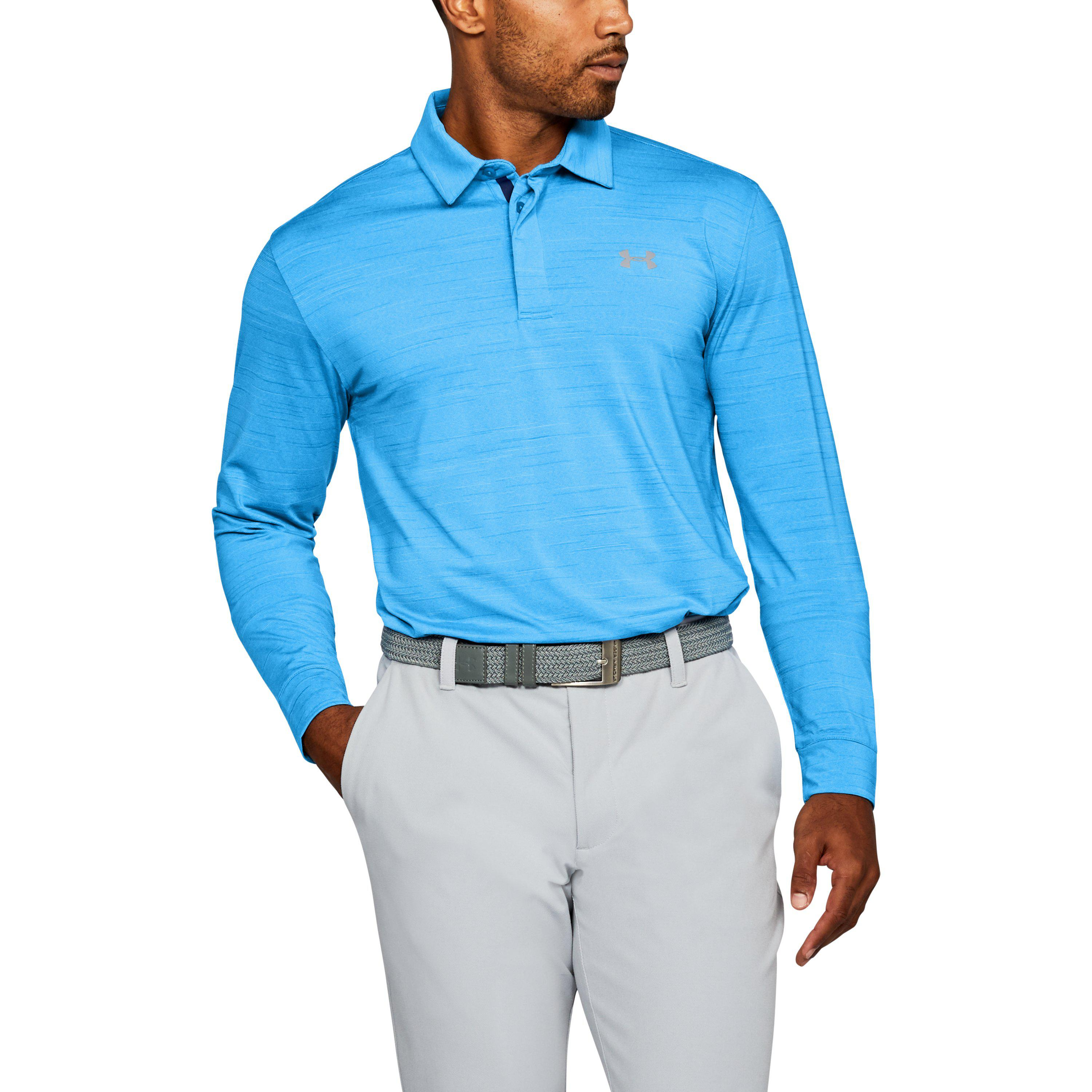 8c5be45eb0 Lyst - Under Armour Men's Ua Playoff Long Sleeve Polo in Blue for Men