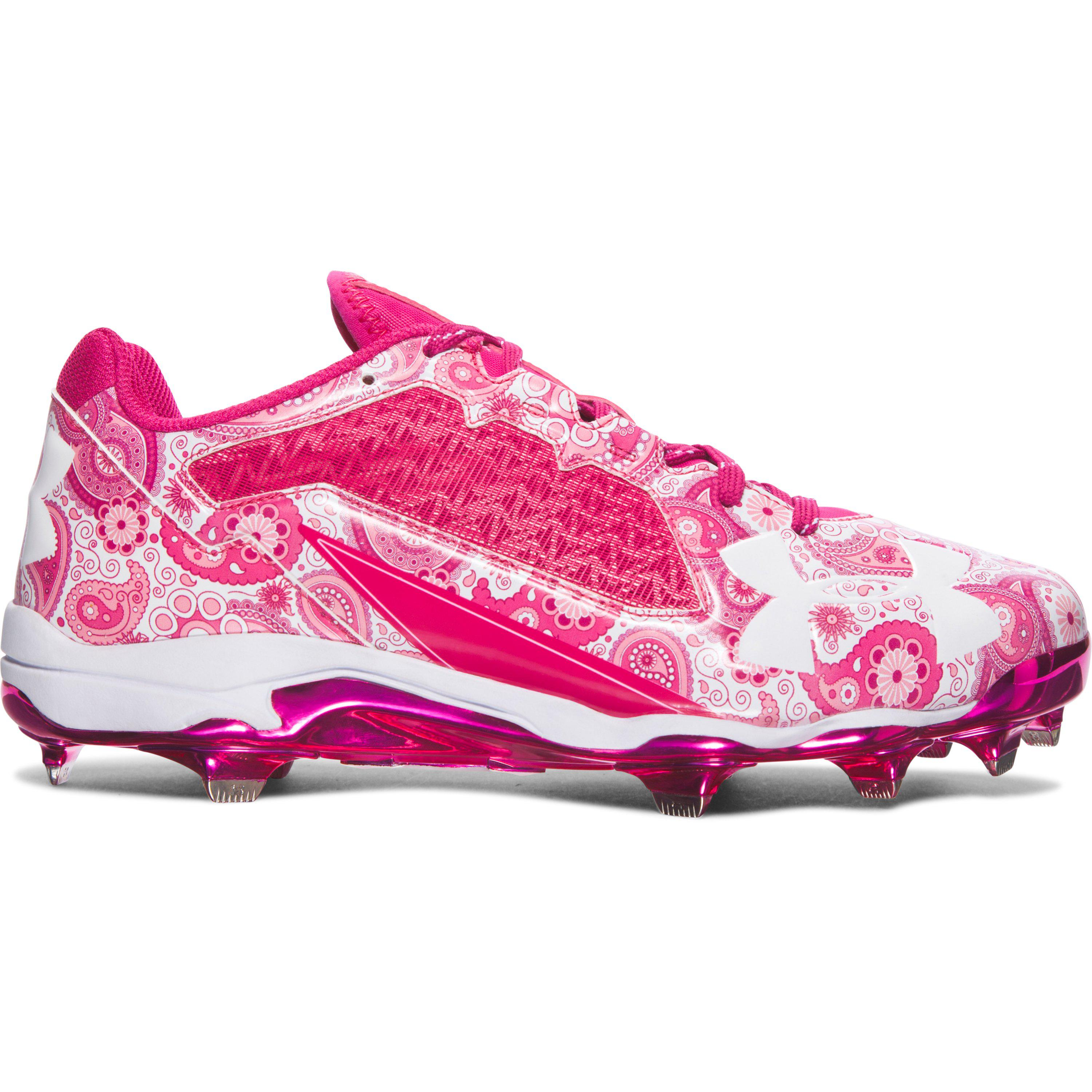 promo code 3fa5c 2b3ef pink under armour baseball cleats for mother s day