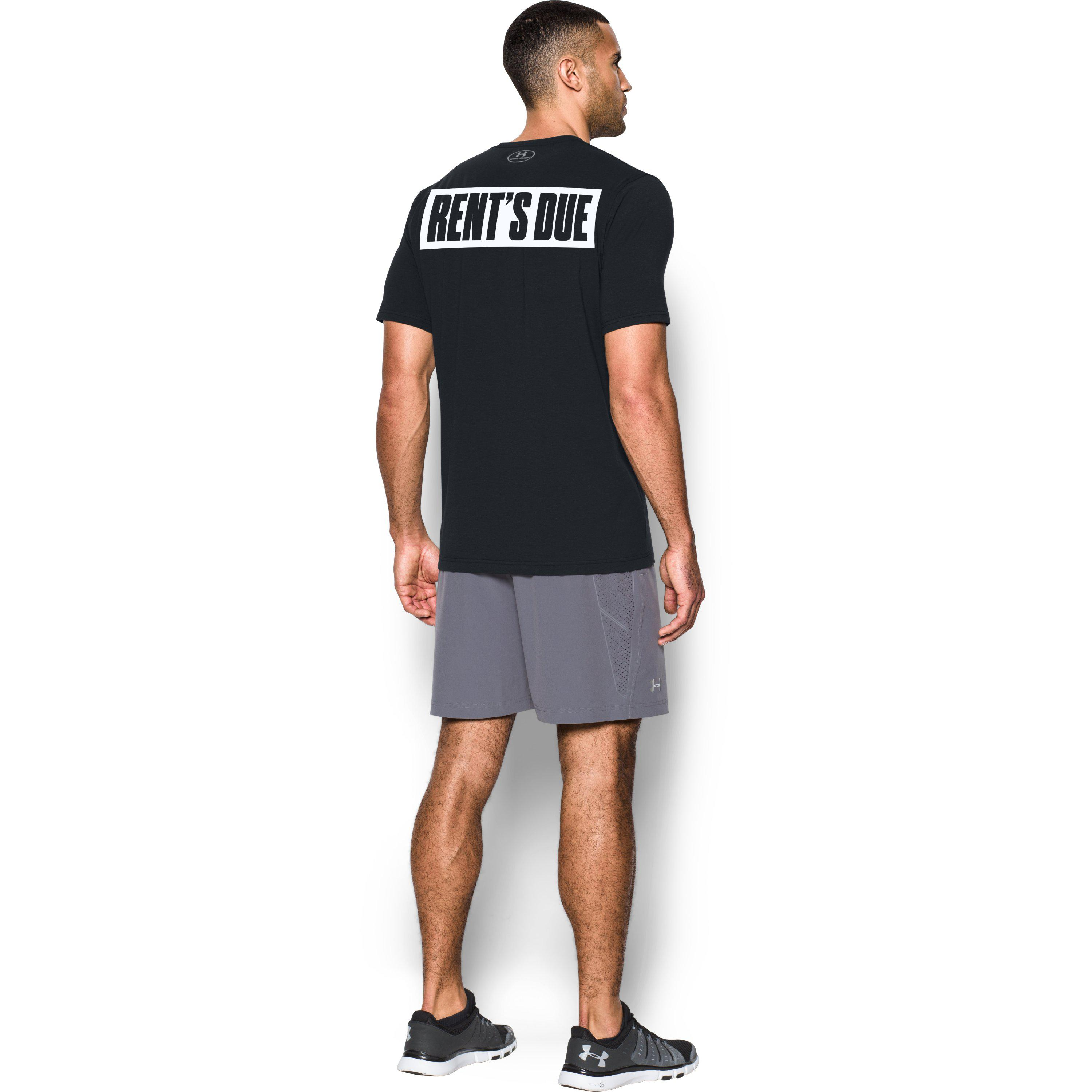 UNDER ARMOUR x PROJECT ROCK NEVER FULL MENS S Small Brown//Tan T-SHIRT