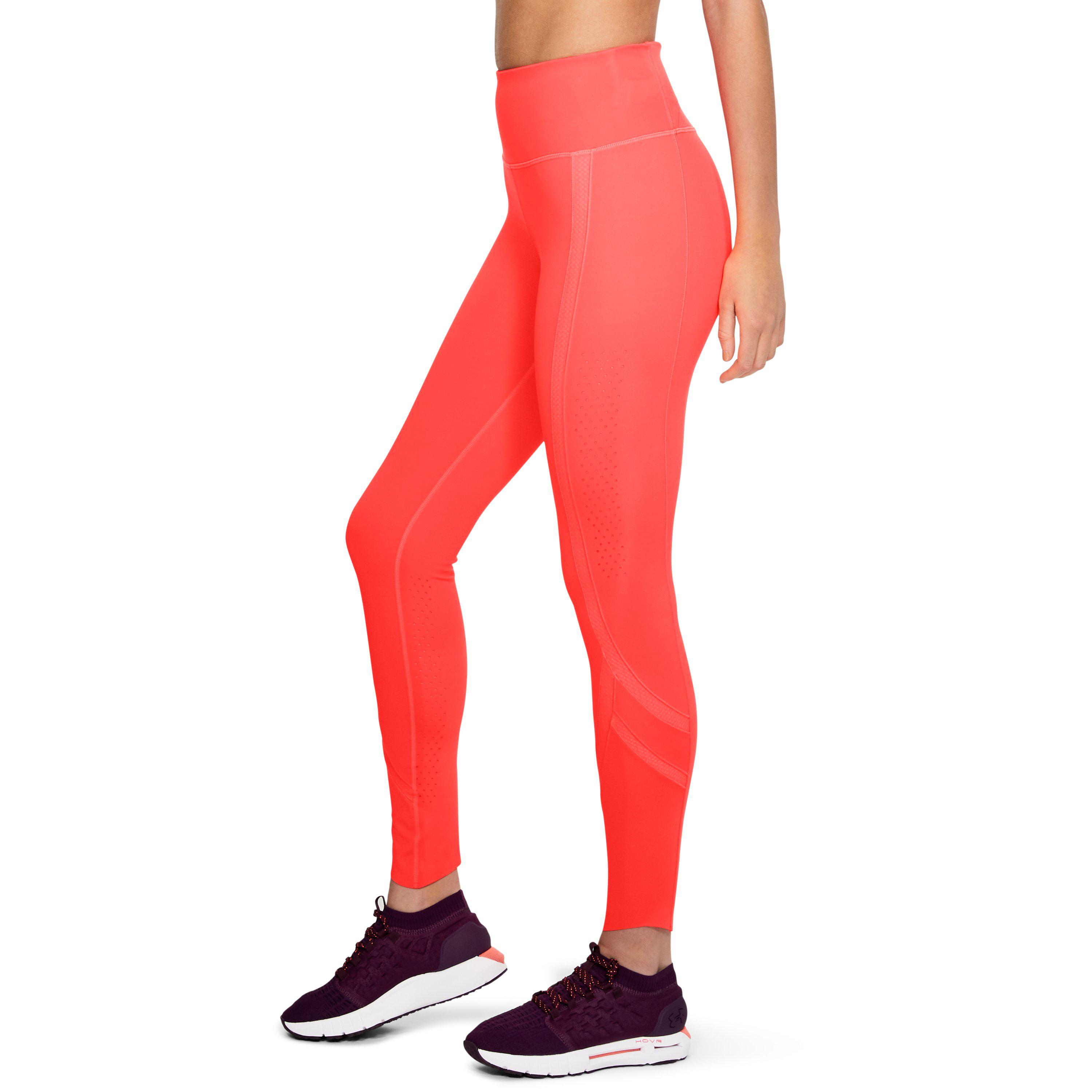 NEW Women/'s UNDER ARMOUR Black Coral Fitted Leggings Athletic Pants Cotton Blend