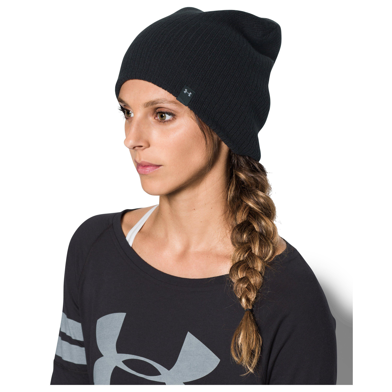 Lyst - Under Armour Women s Ua Favorite Knit Beanie in Black 2765121de