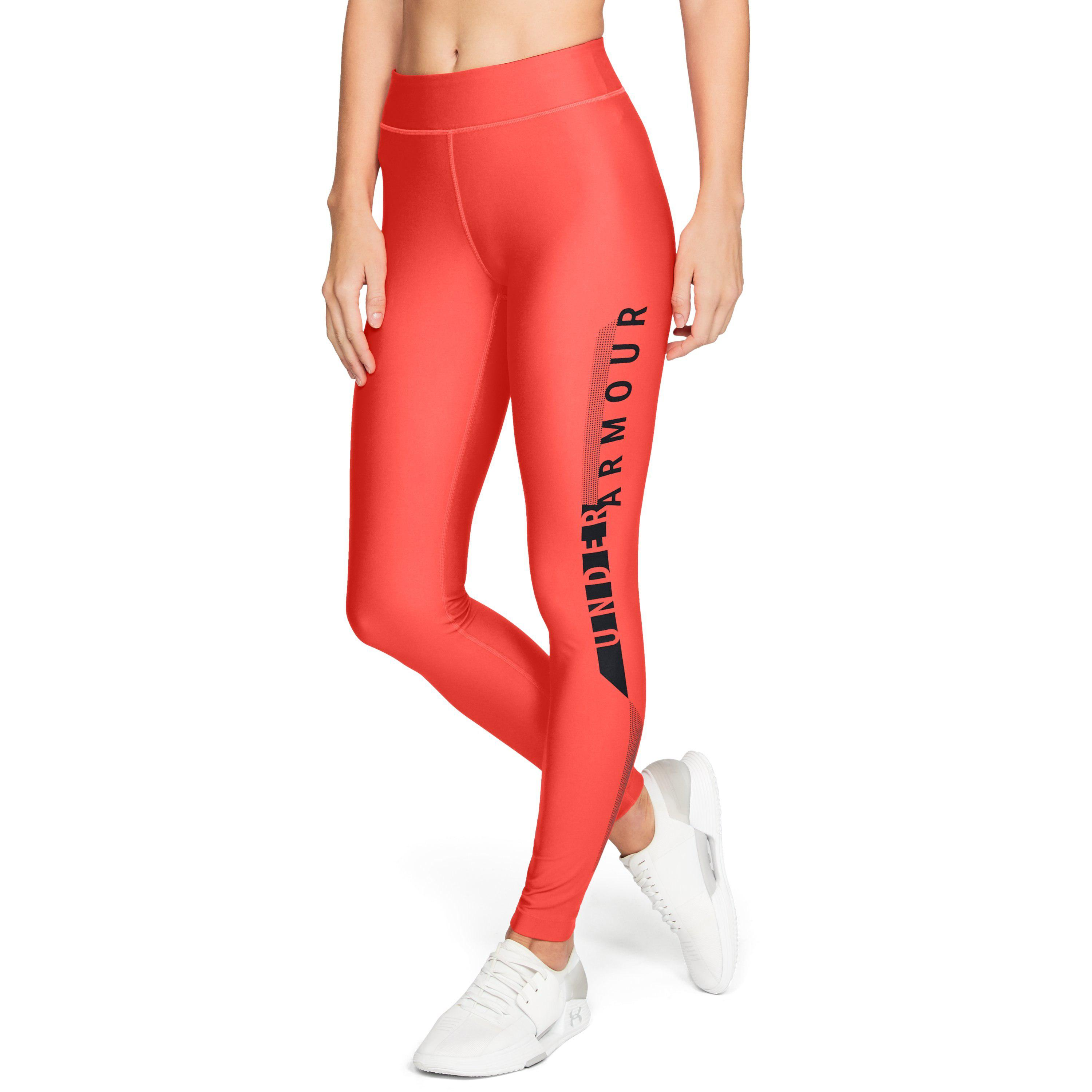 b4c4494aa55568 Lyst - Under Armour Women's Heatgear® Armour Graphic Leggings in Red