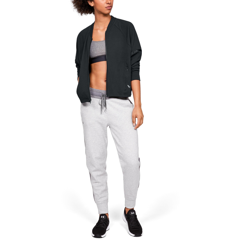 40f2140eb Under Armour Black Women's Ua X Project Rock Double Knit Bomber Jacket
